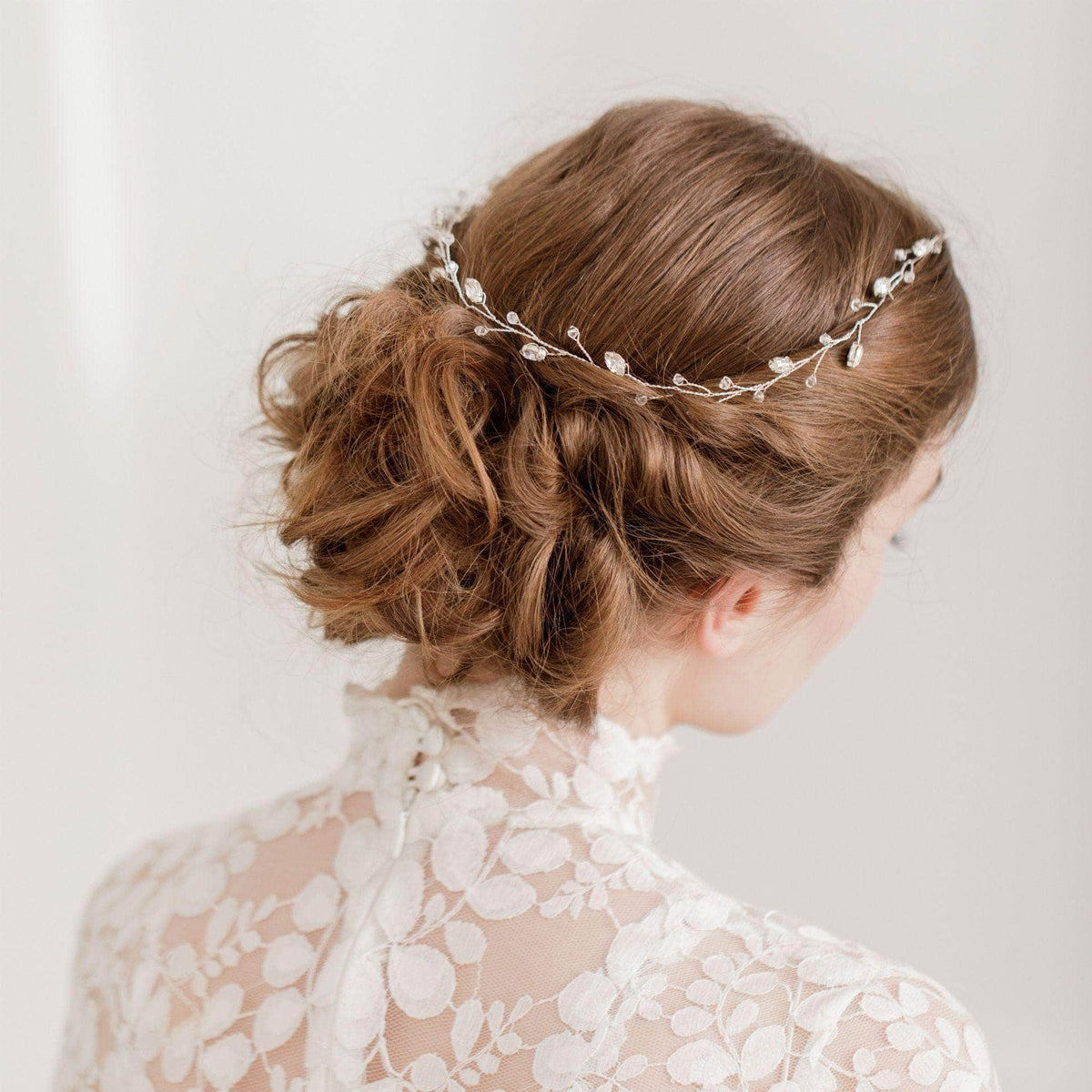 Wedding Hairvine Gold Gold floral extra long hair vine - 'Jaime'