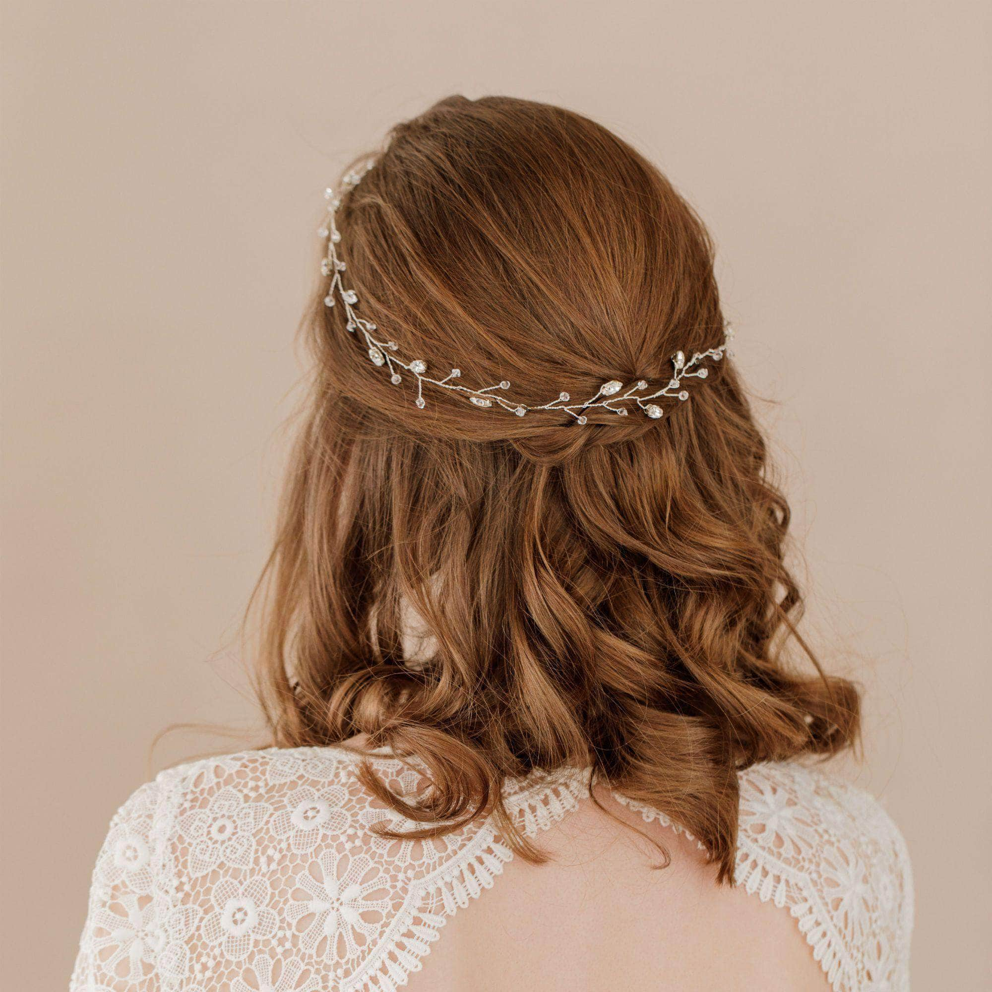 Wedding Hairvine Silver Silver floral multipiece halo - 'Jaime'