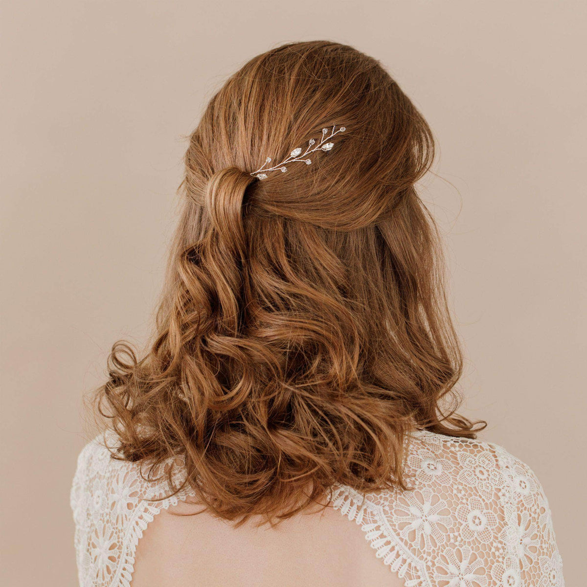 Wedding Hairvine Silver Silver floral mini hair vine - 'Jaime'