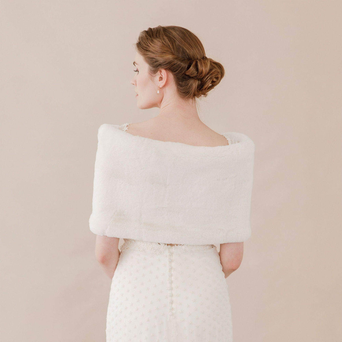 Wedding Cover Up Faux fur bridal wrap shrug stole - 'Marta'