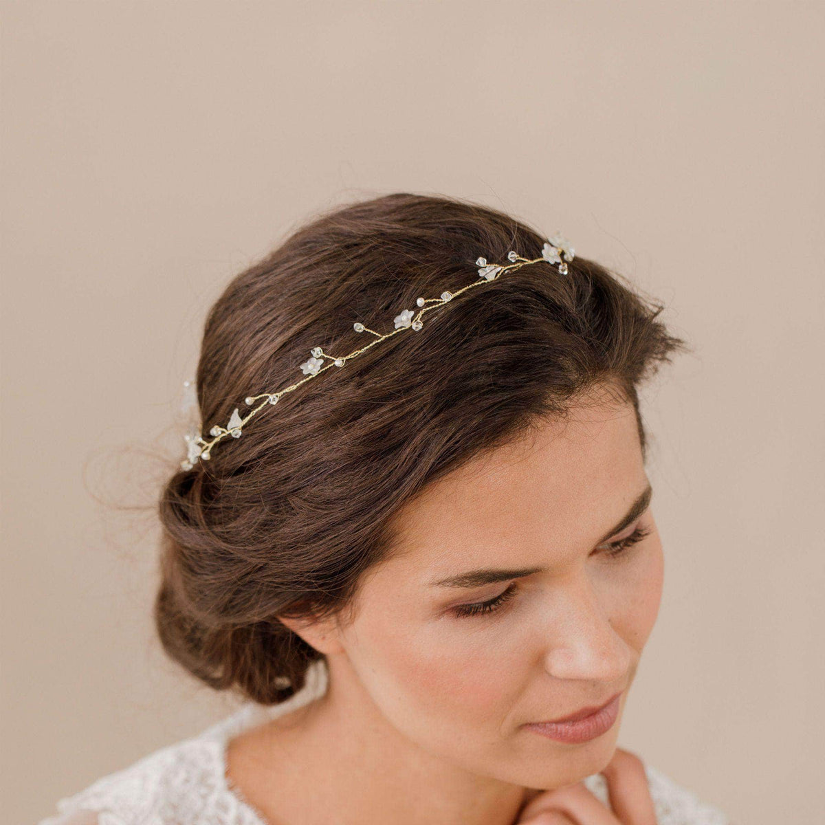 Wedding Hairvine Rose gold Rose gold pearl extra long hair vine - 'Myra'