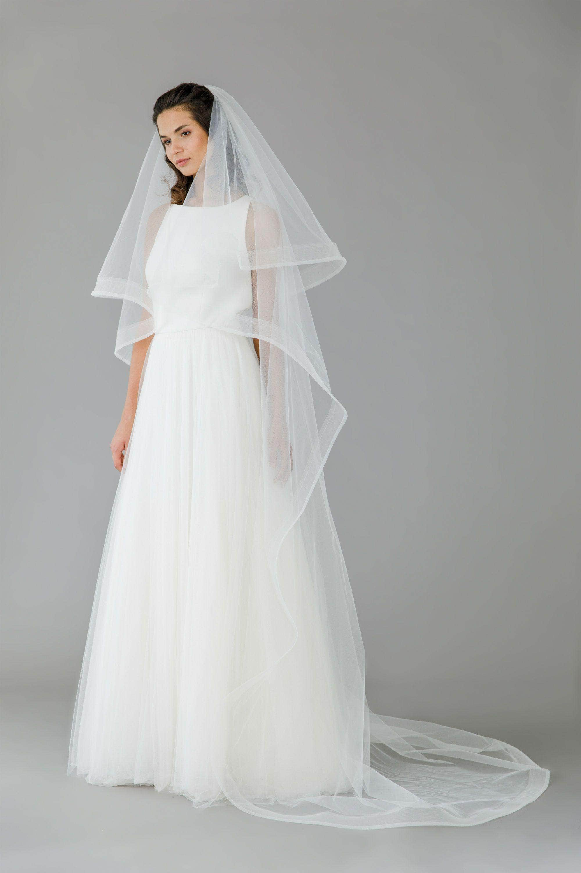 Wedding Veil Horsehair two tier wedding veil - 'Atlas'