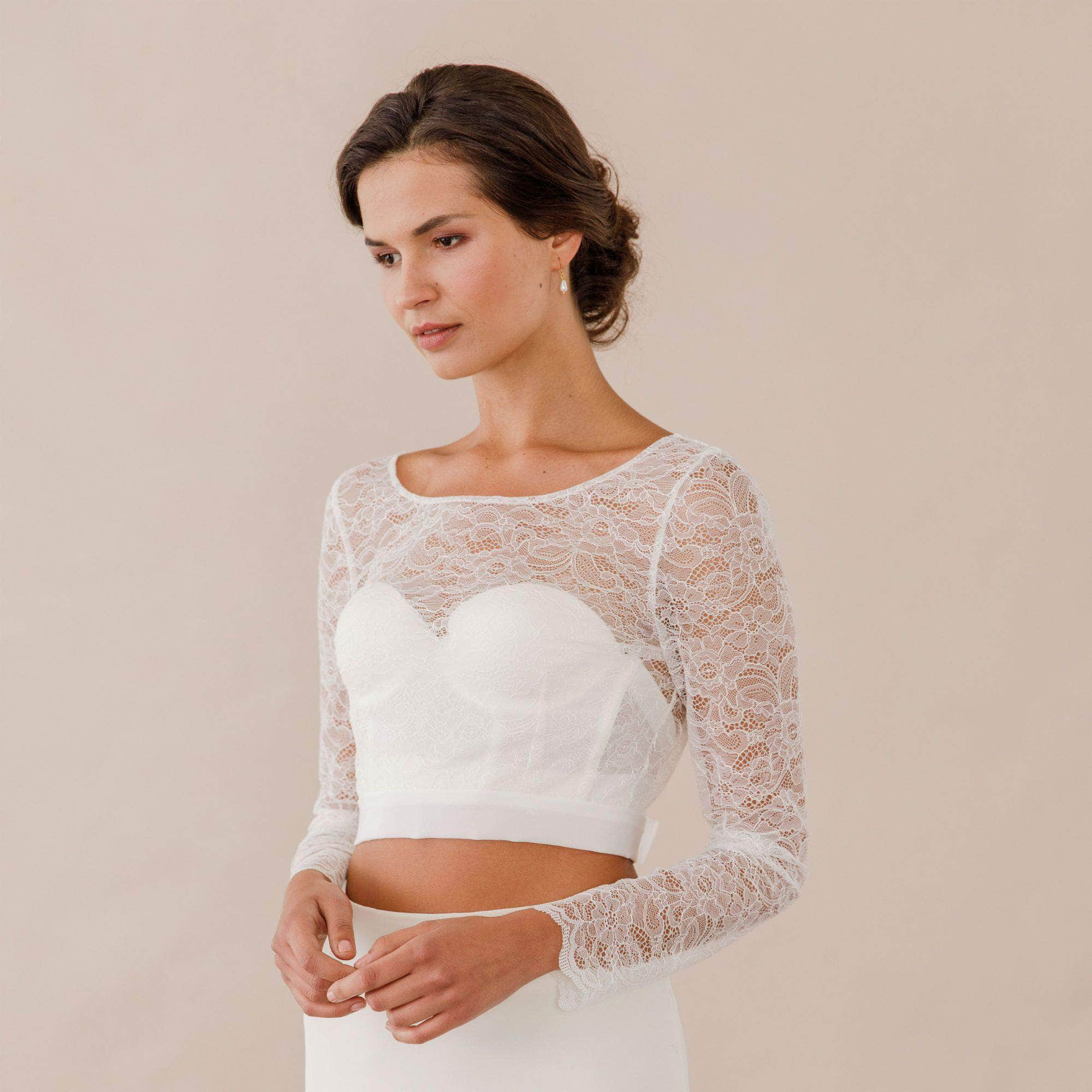 Lace cover up with silk tie up sash