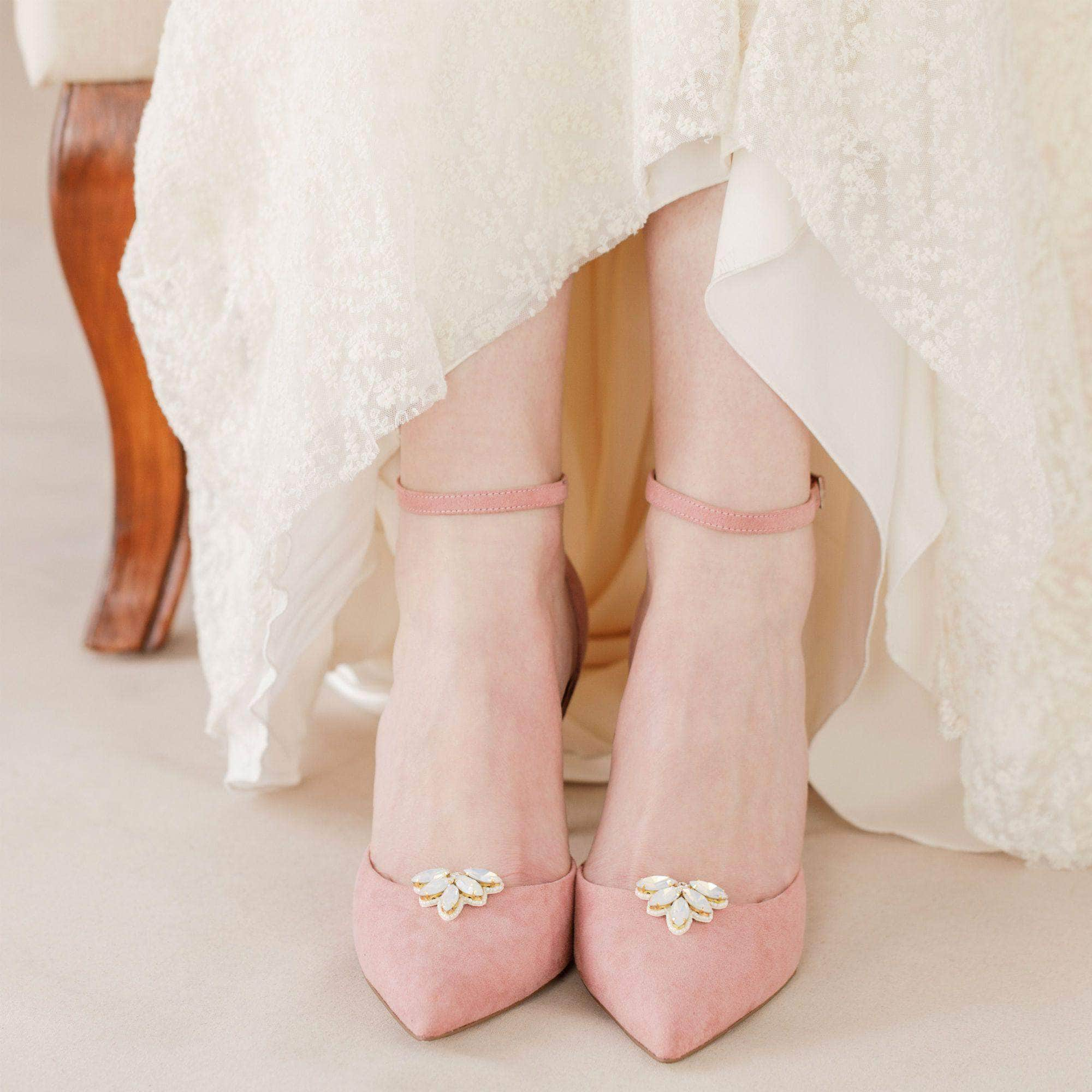 Opal wedding shoe clips - 'Gwendolyn' | Britten Weddings