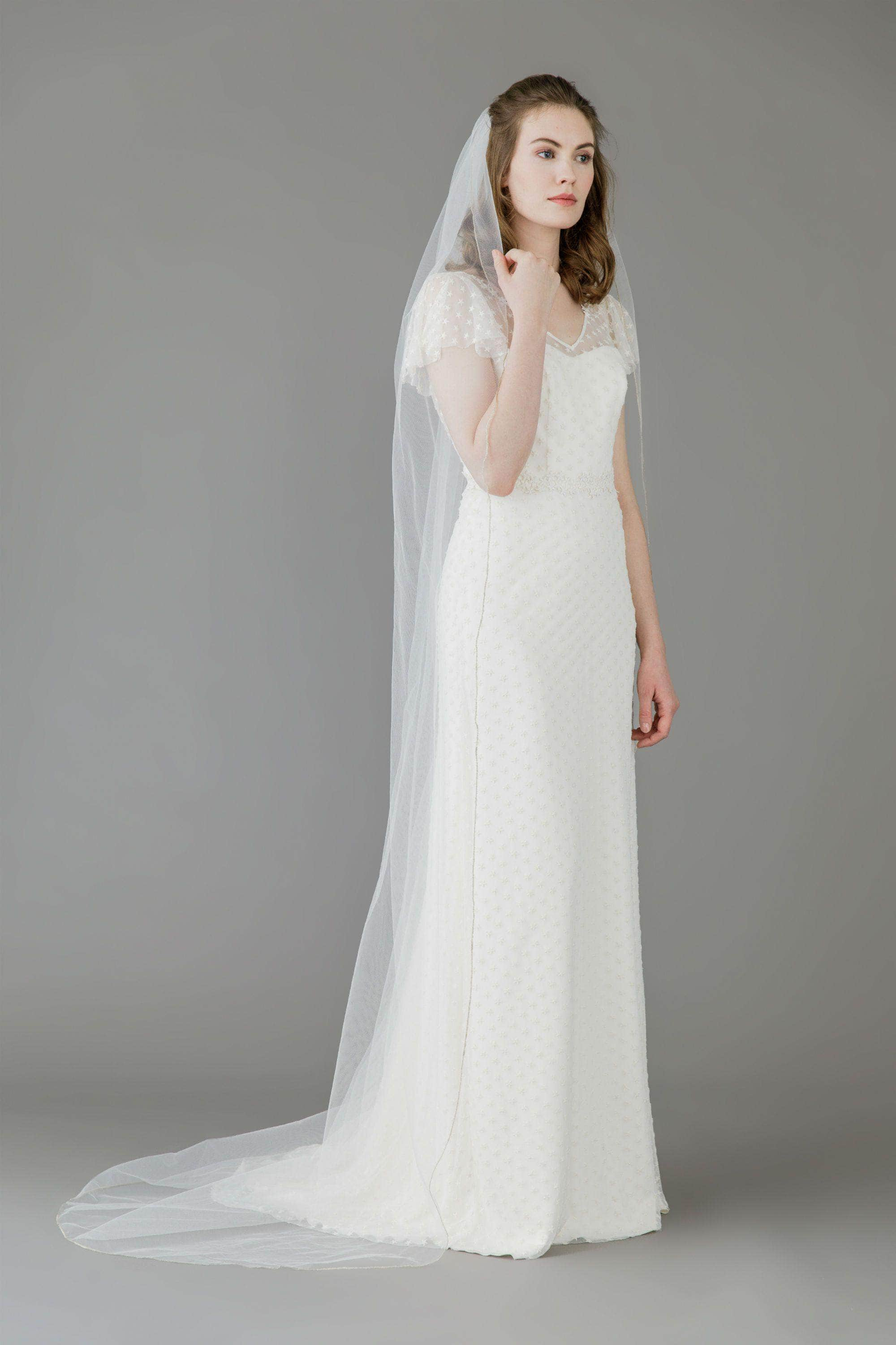 Wedding Veil Pencil edge single tier wedding veil - 'Elsie'