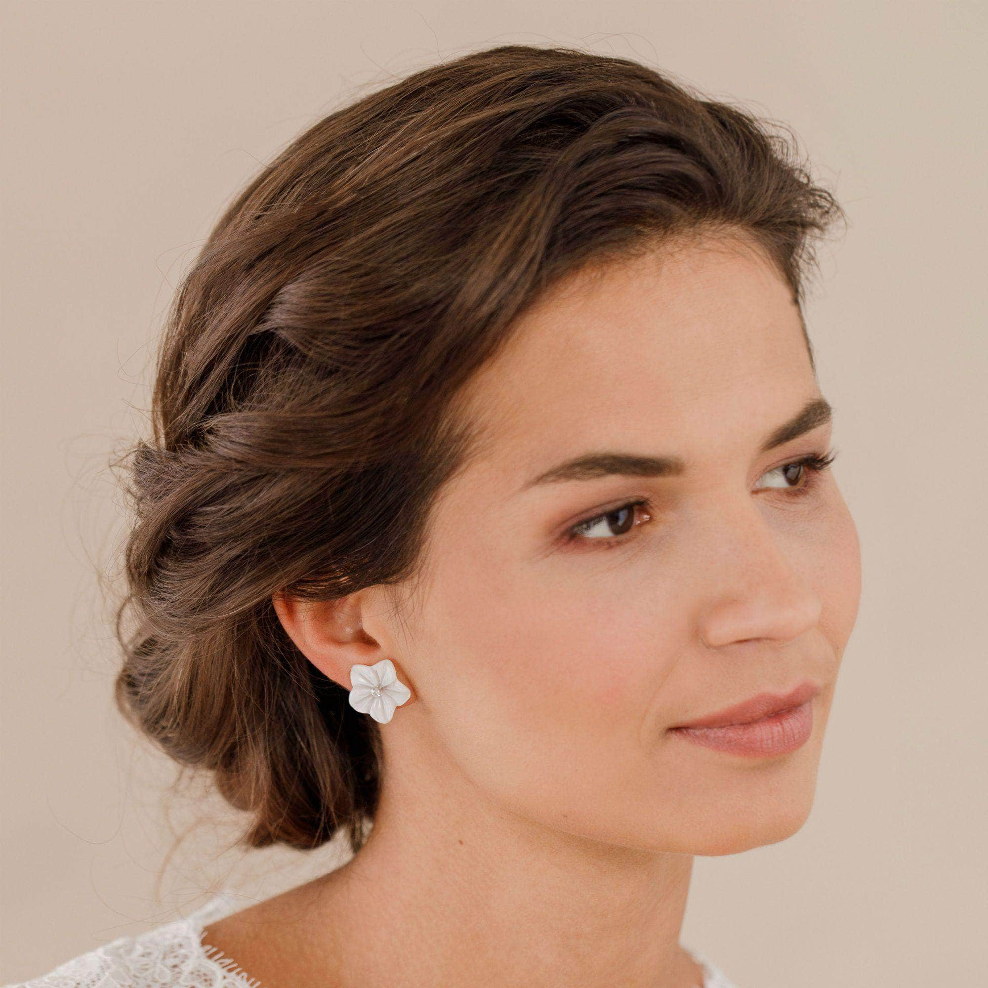 Flower wedding earrings