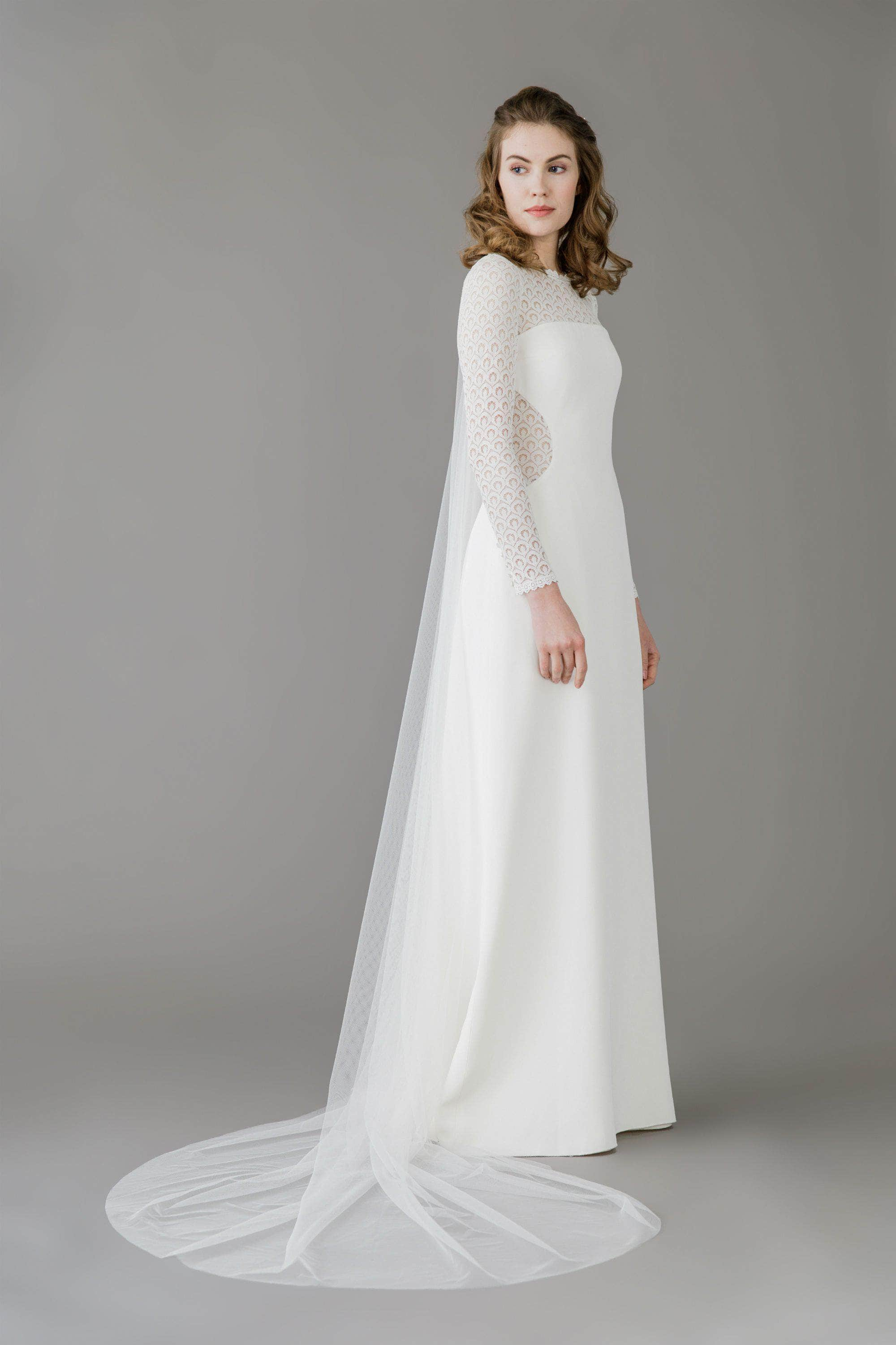 Wedding Veil Silk style barely there wedding veil - 'Ilona'