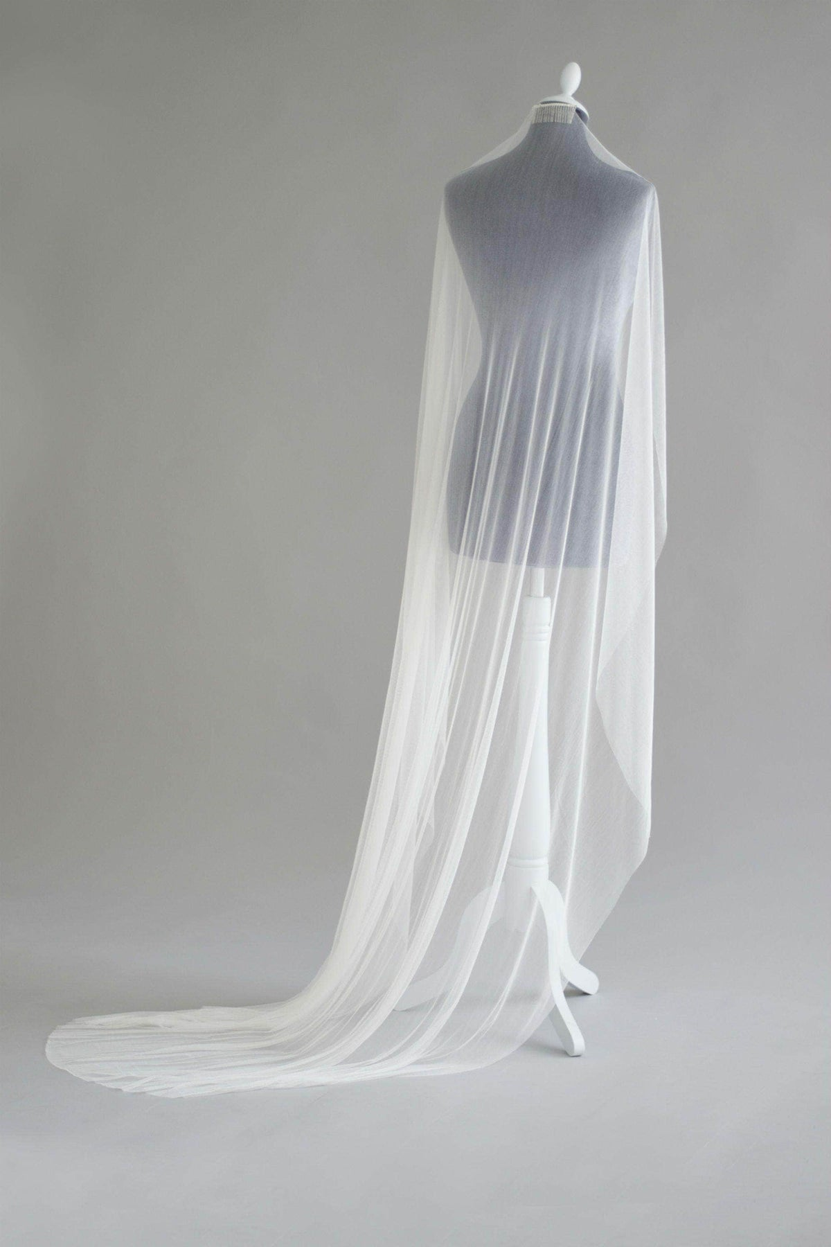 Wedding Veil Pure soft silk barely there wedding veil - 'Honor'