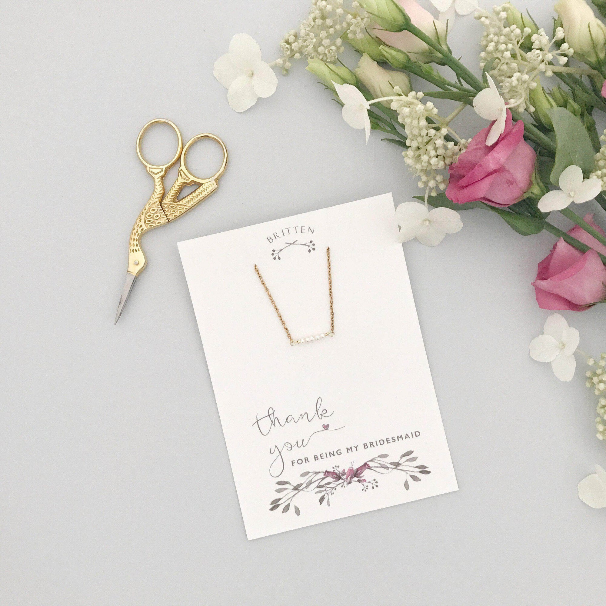 Bridesmaid Gift Gold Bridesmaid 'Thank You' gift gold bracelet - 'Freya'