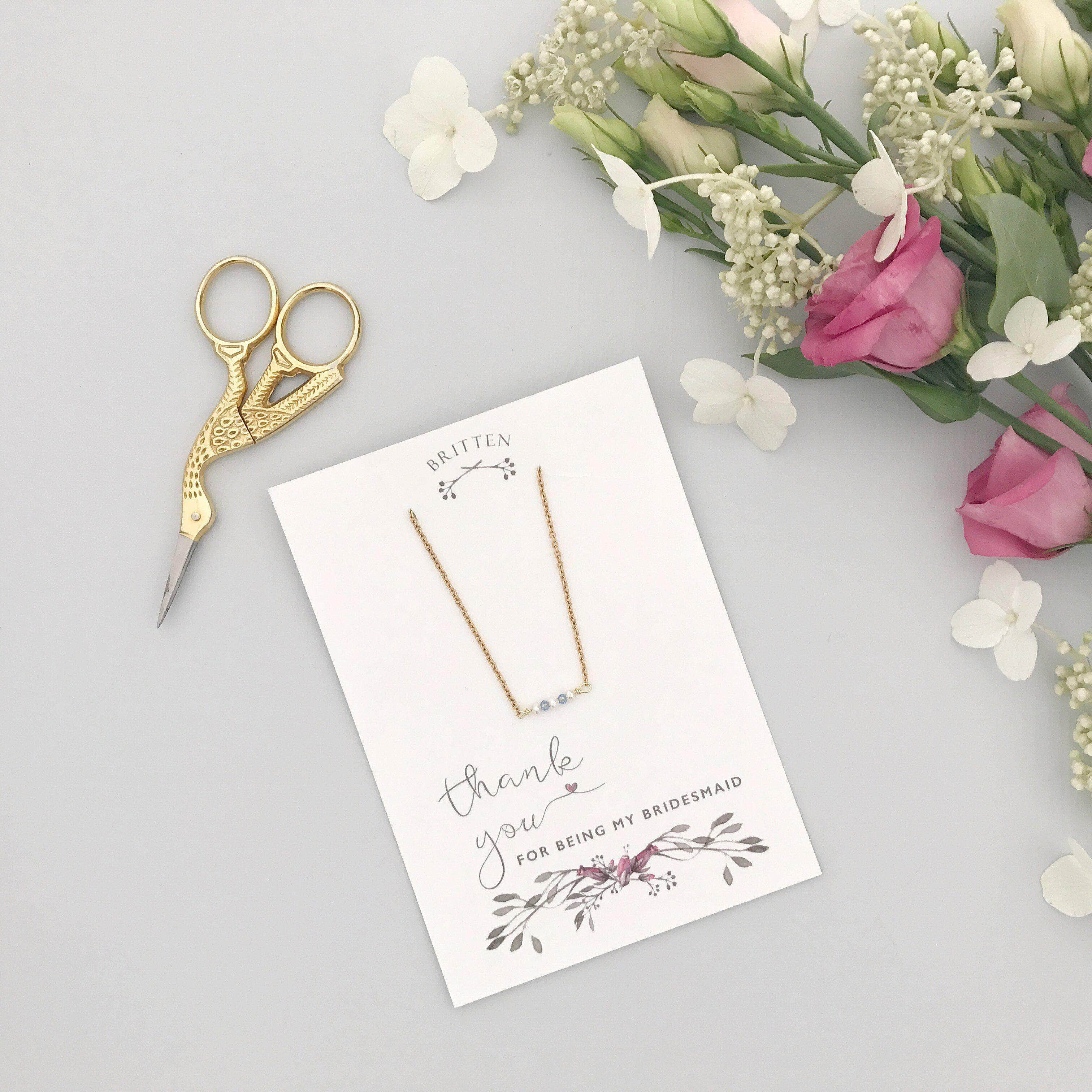 therapy bridesmaid products boutiques necklace