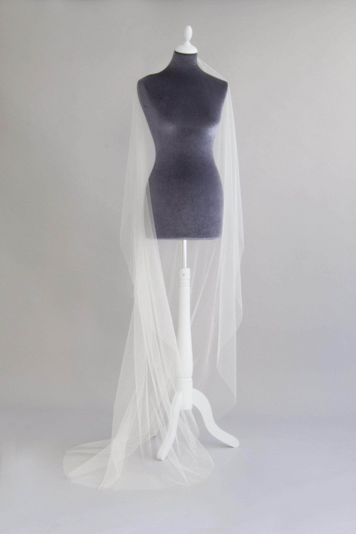 Wedding Veil Crisp silk barely there wedding veil - 'Margot'