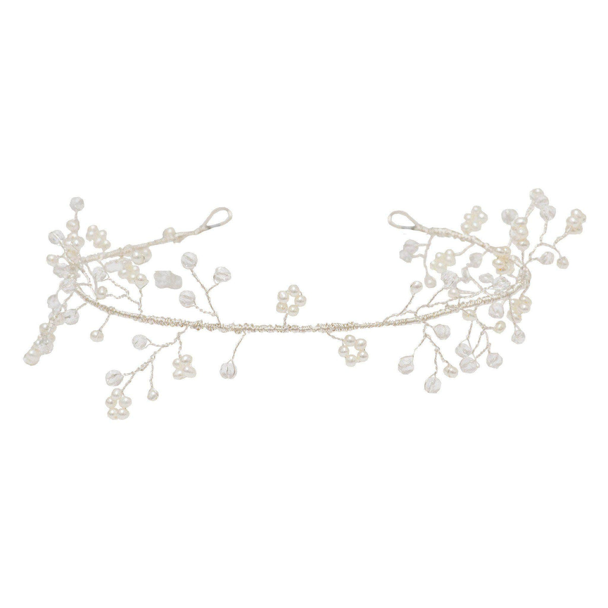 Wedding Hairvine Silver Wedding hair vine silver crystal and pearl - 'Avery'