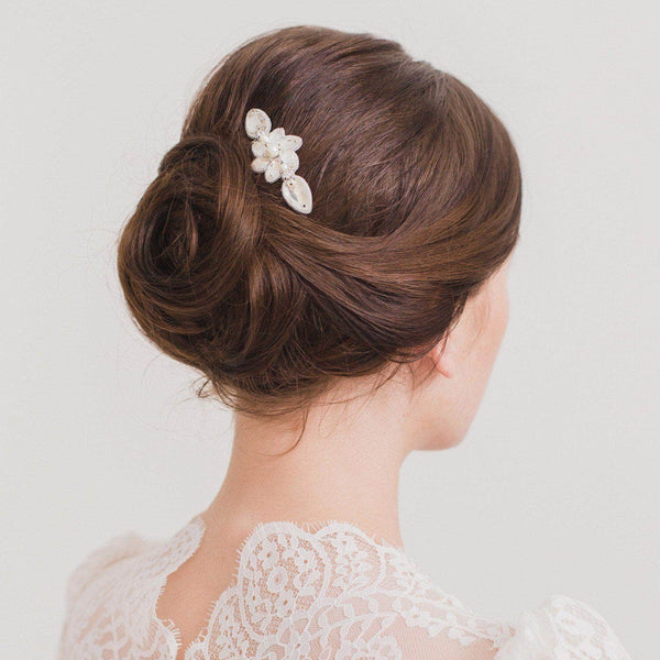 Floral Wedding Hair Comb By Britten: Wedding Hair Comb With A Freshwater Pearl Centrepiece