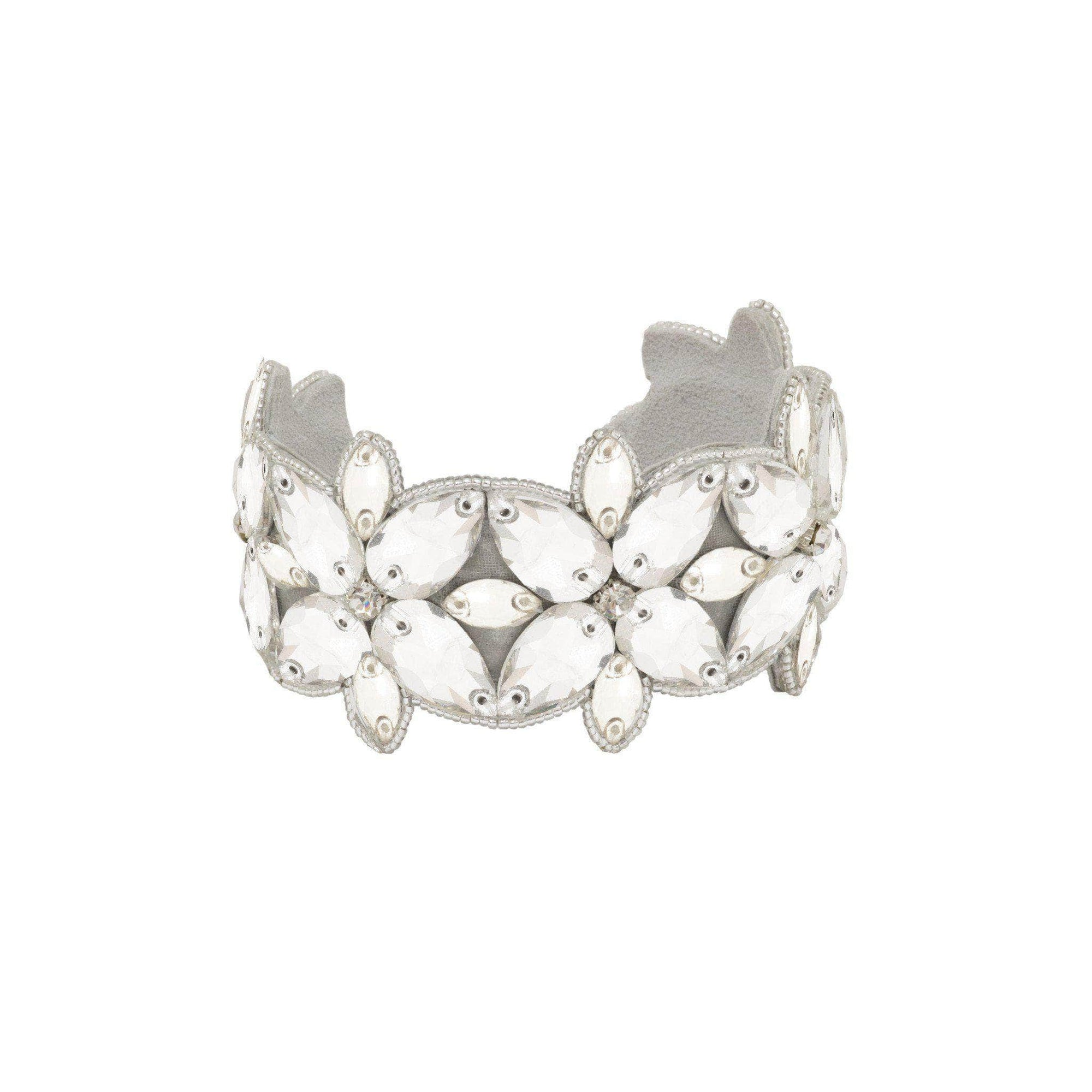 Wedding Cuff Silver Crystal wedding cuff - 'Mira'