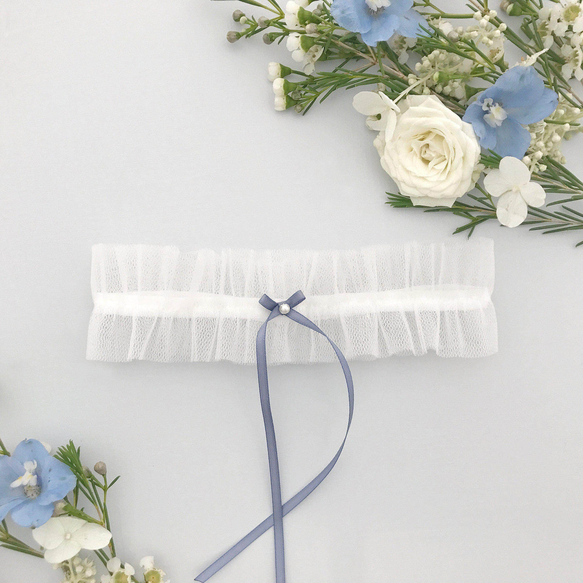 Wedding Garter Tulle wedding garter - 'Ellé'