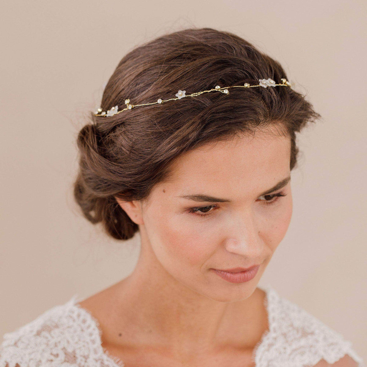 Wedding Belt Gold Gold floral crystal belt - 'Olive'