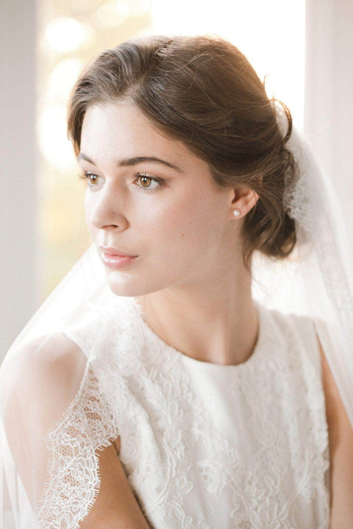 french eyelash lace wedding veil silk style tulle