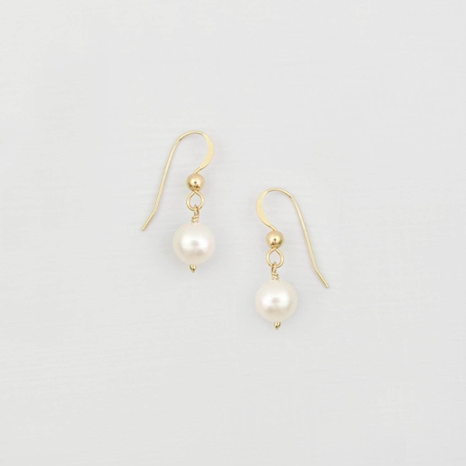 Wedding Earring Pearl Drop Earrings - 'Naya'