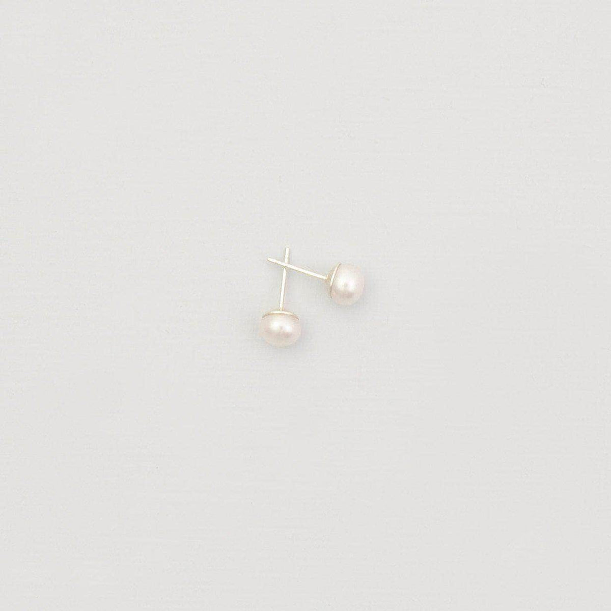 Wedding Earring Silver Freshwater pearl stud wedding earrings - 'Priya'