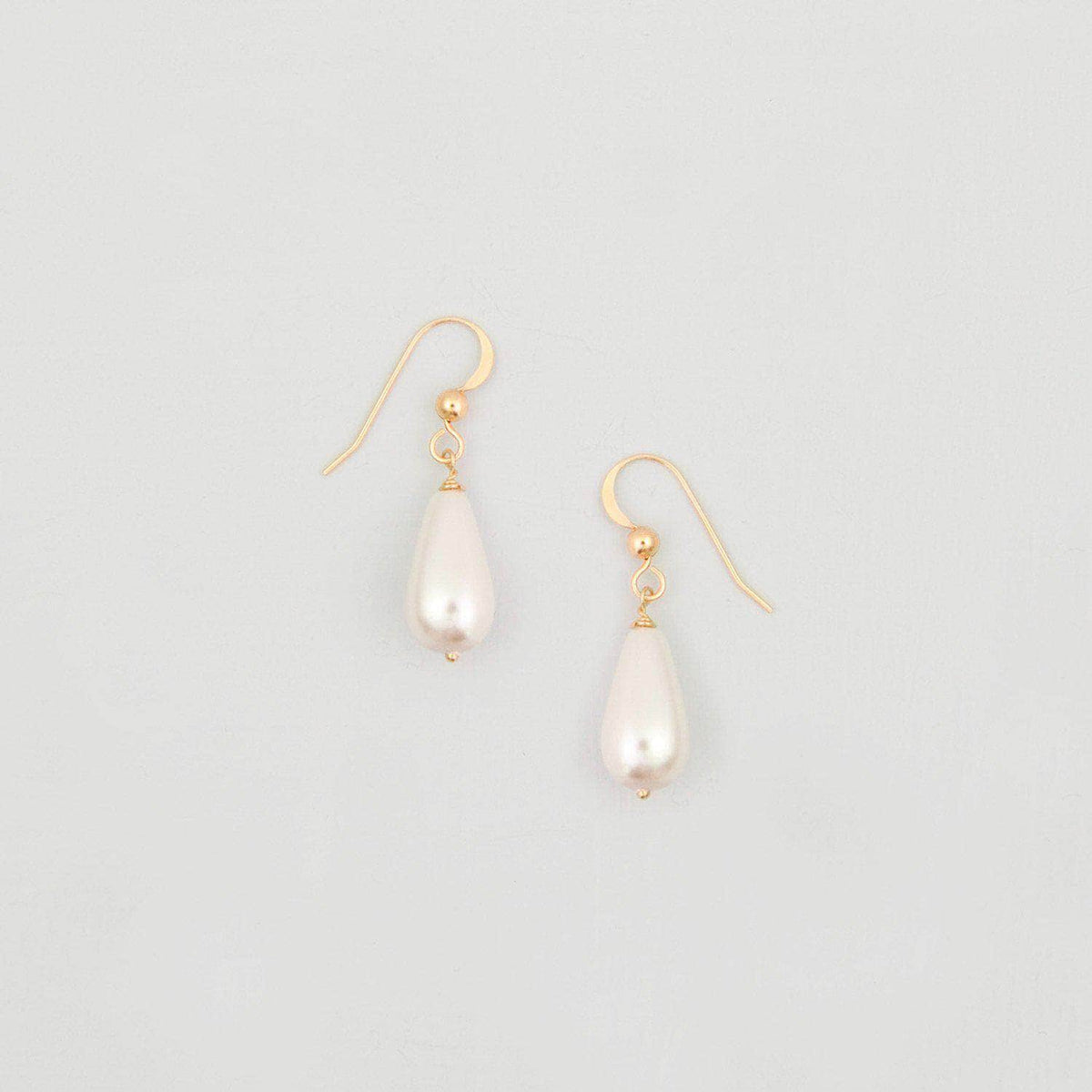 Wedding Earring Pearl wedding earrings gold (different sizes available) - 'Hermi'
