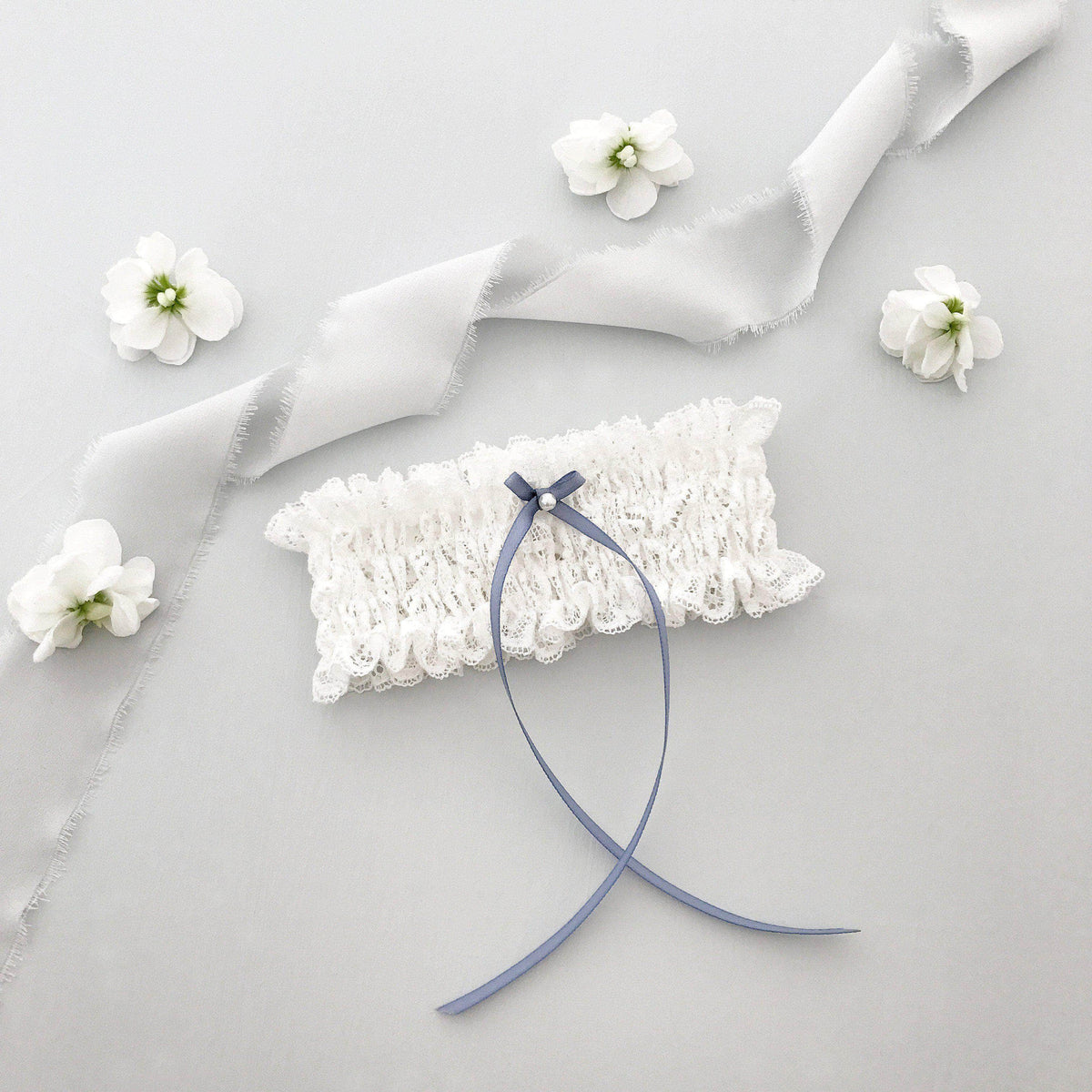 Wedding Garter Ivory lace wedding garter - 'Grace'