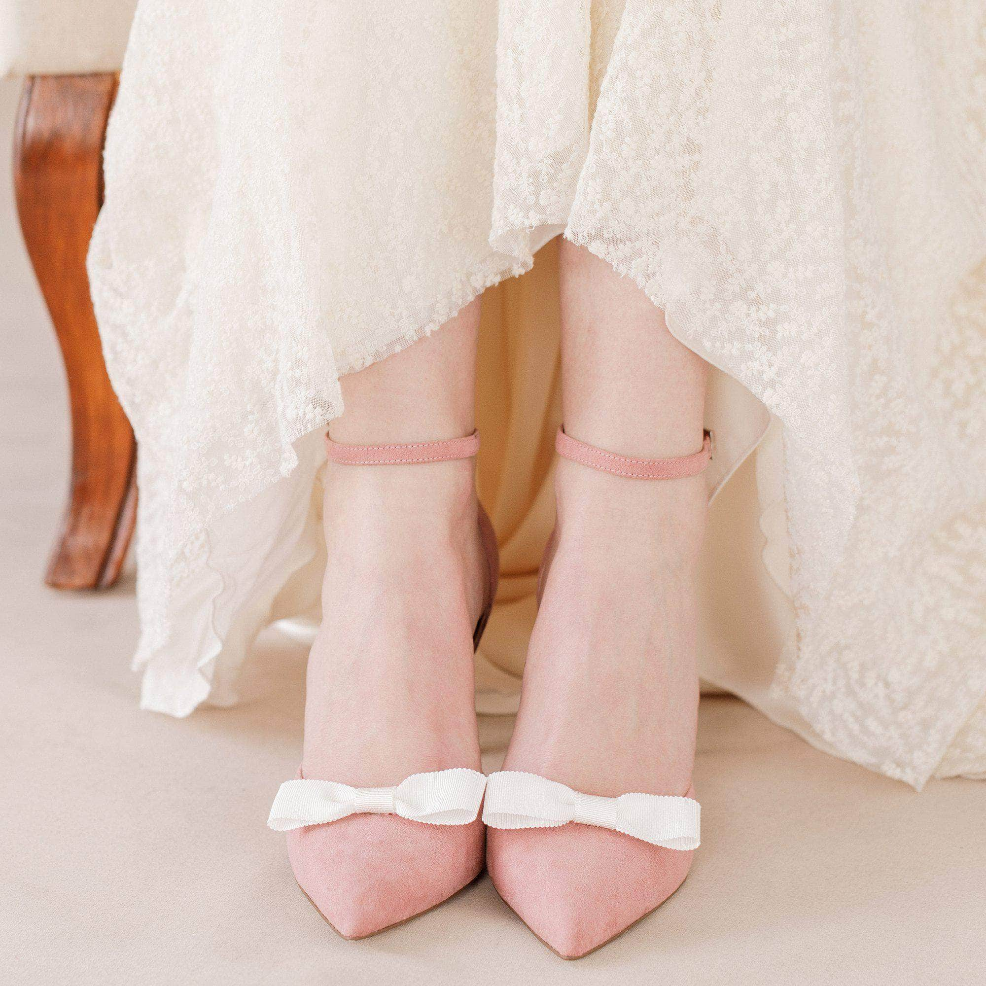 ivory bow shoe clips
