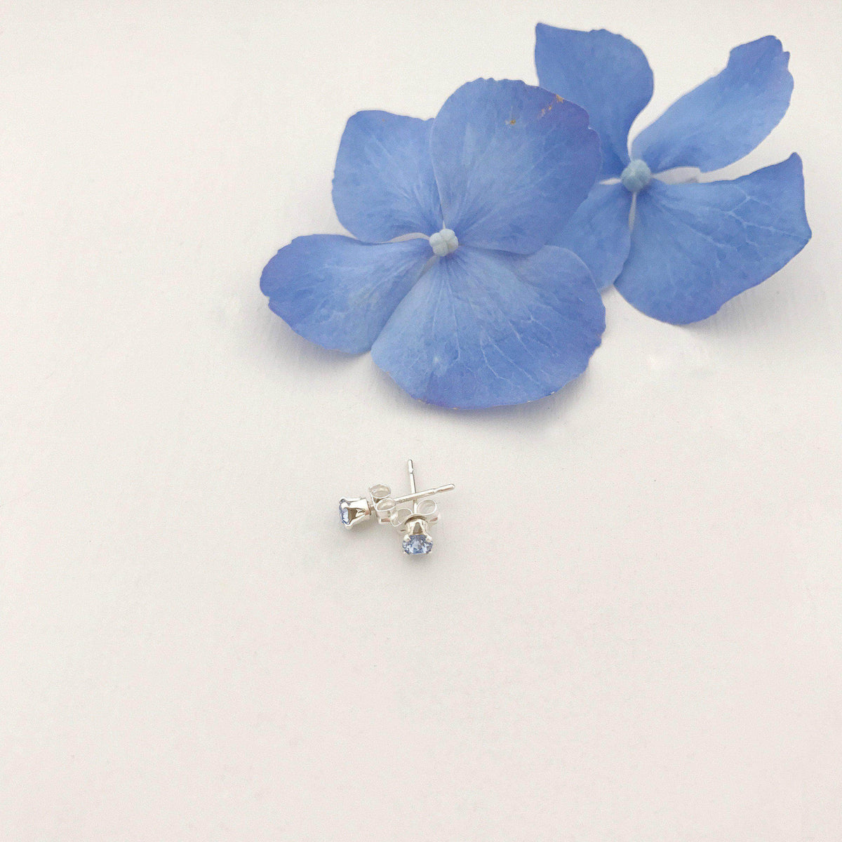 Wedding Earring Blue Something blue crystal stud wedding earrings - 'Ida'