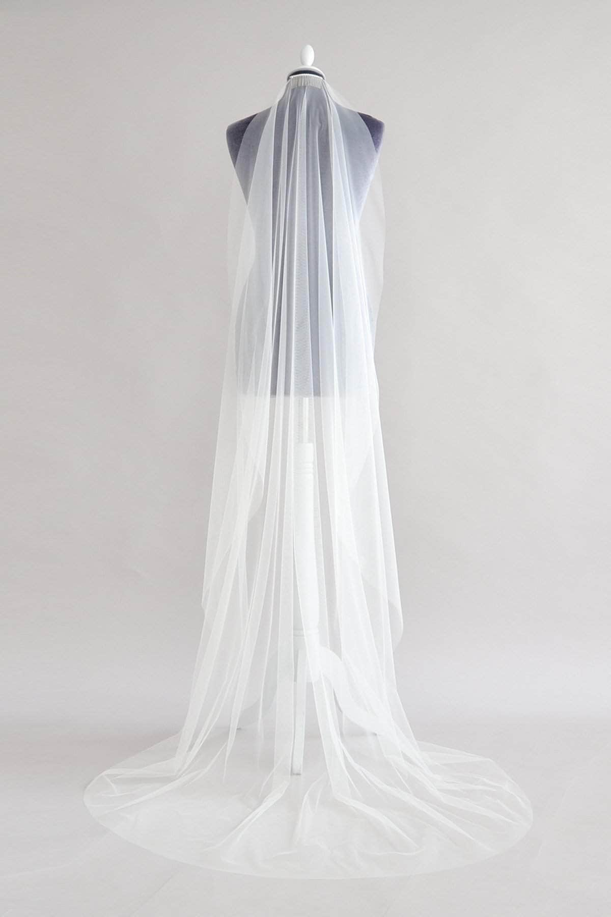 italian tulle barely there veil