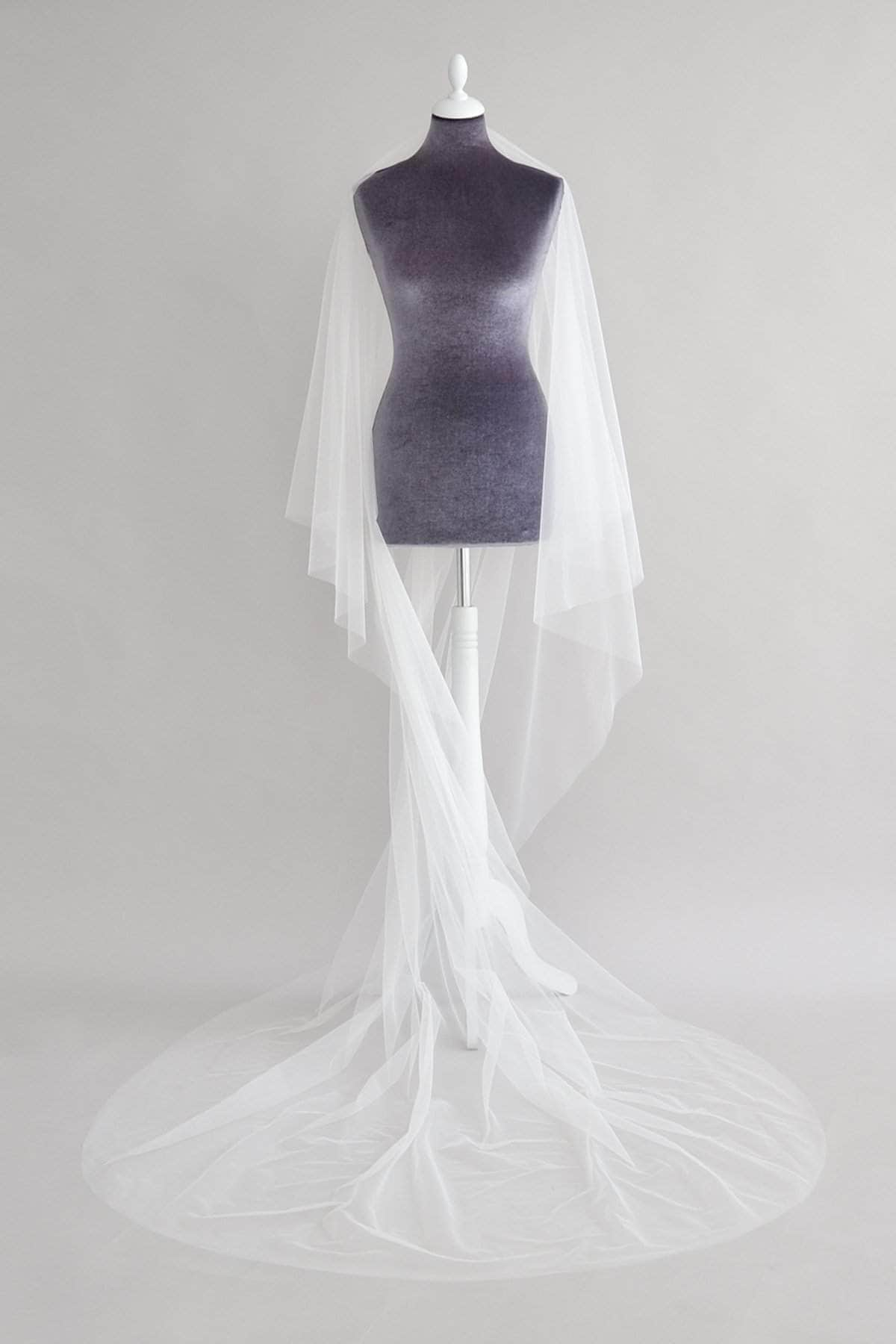 Wedding Veil Italian tulle drop wedding veil - 'Delphine'