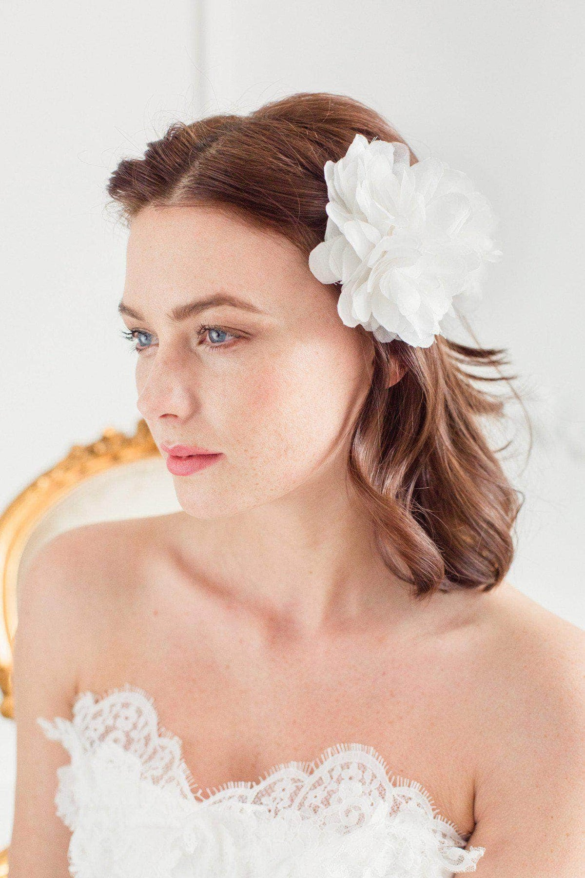 Wedding Hairpin Silk flower wedding hair pin - 'Isabelle'