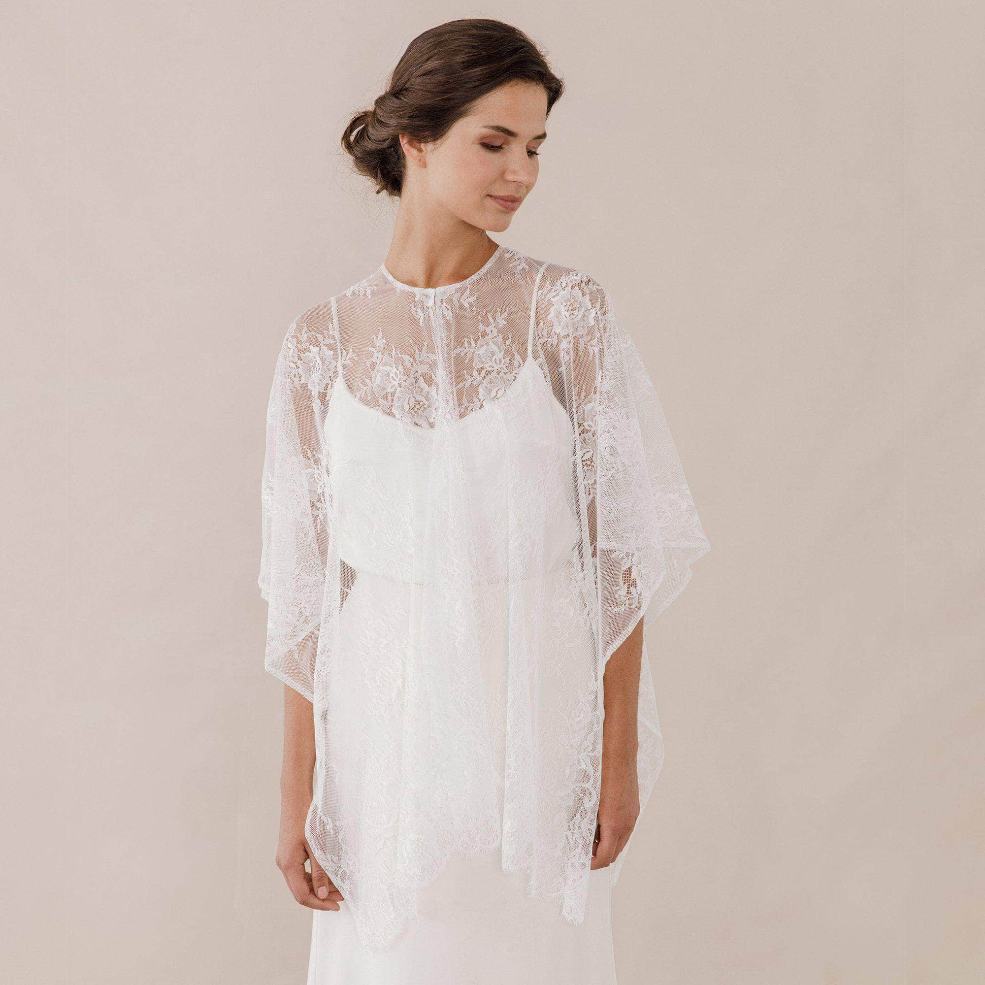 Bridal cover ups and capes britten for Cover up wedding dress