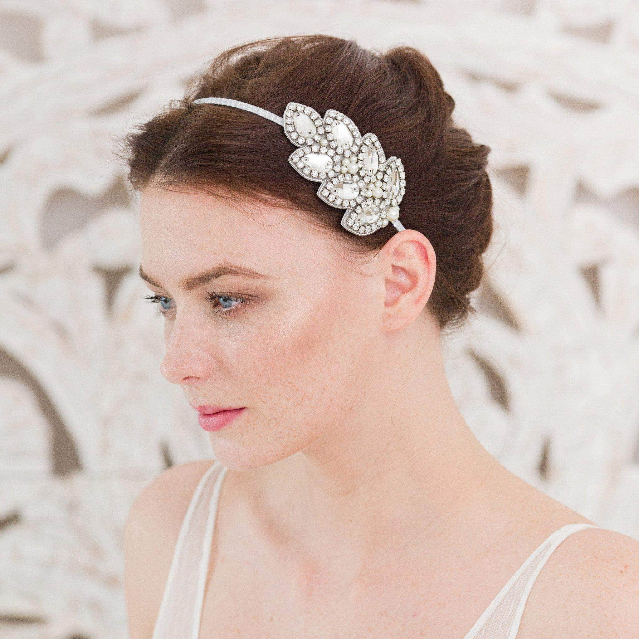 leaf wedding head band
