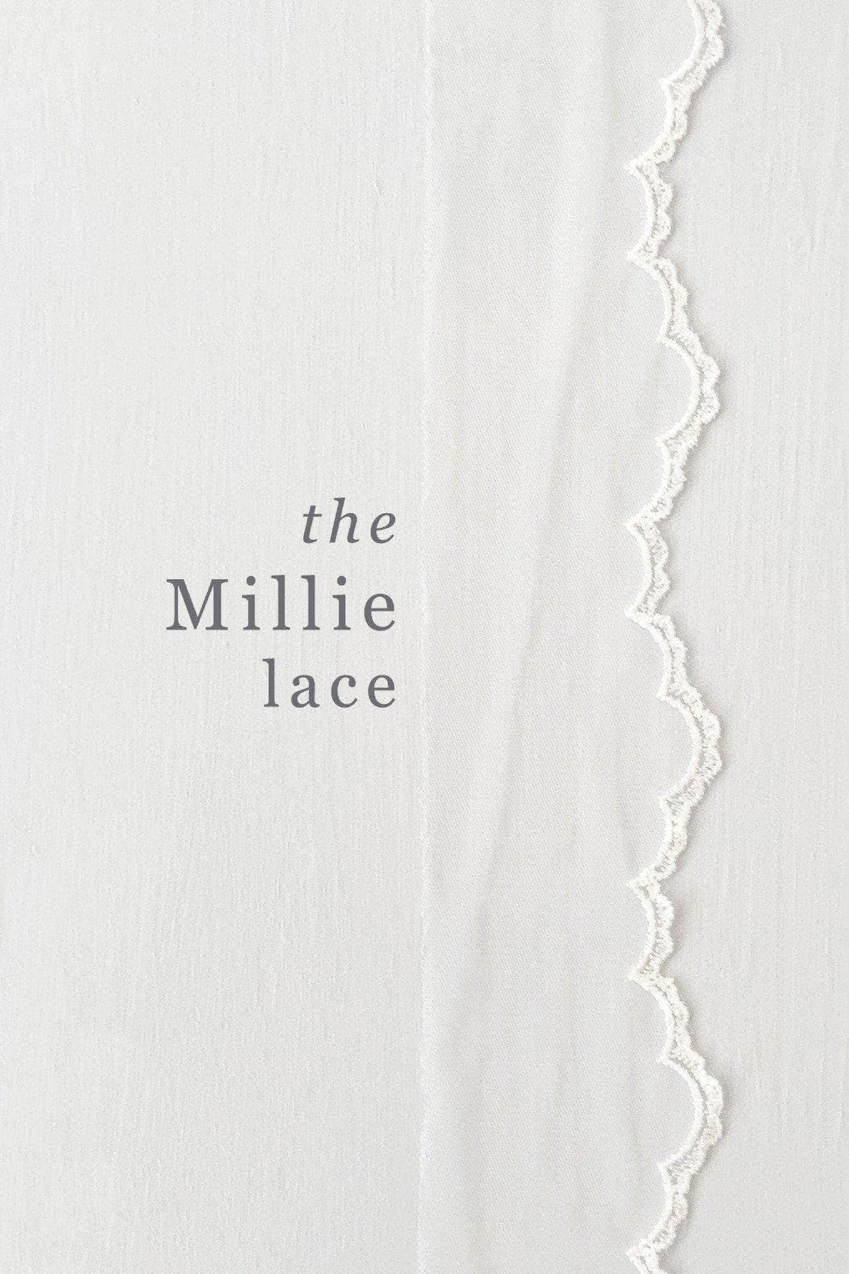 Wedding Veil Delicate lace edged two tier wedding veil - 'Millie'