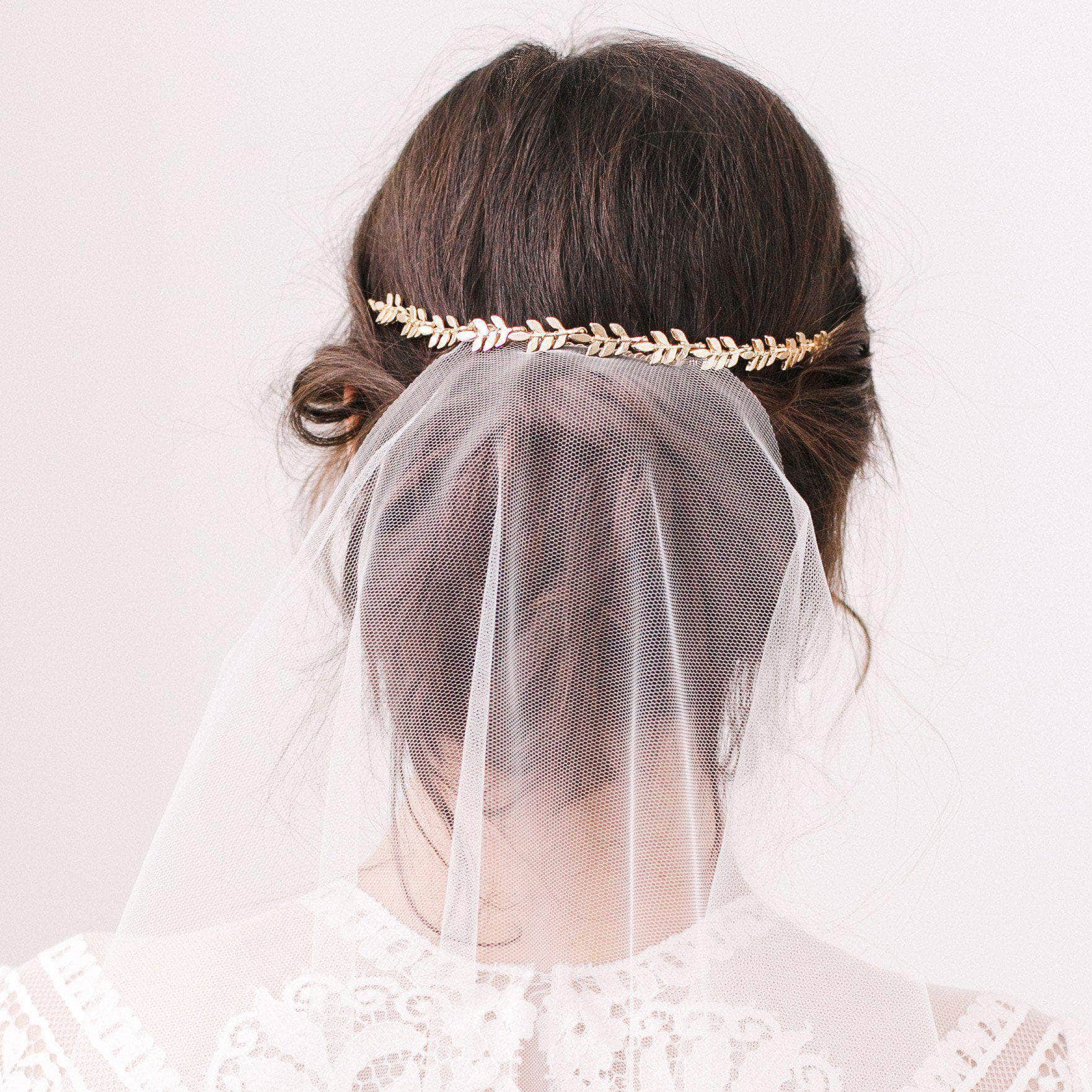 Mini Gold Leaf Wedding Hair Vine Avani Britten Weddings