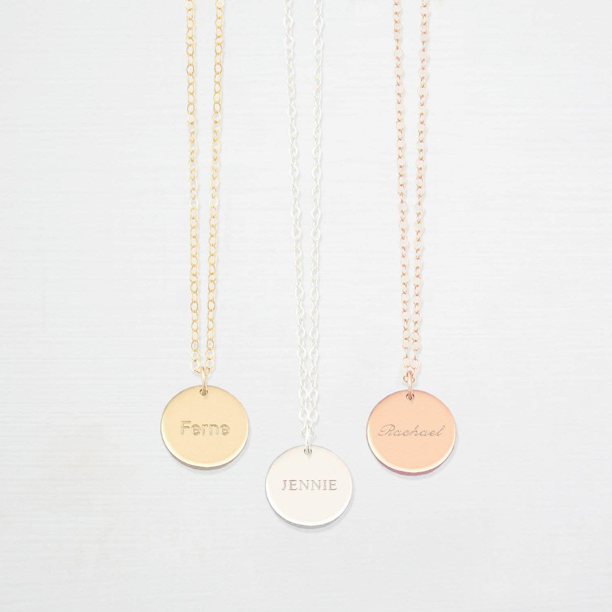 Personalised Disk Bridal Necklace