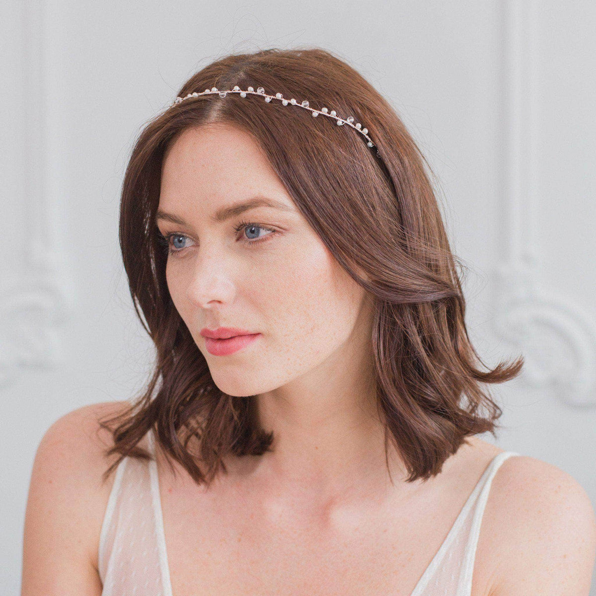 Wedding Hairvine Silver Pearl wedding hair vine in silver - 'Skye'