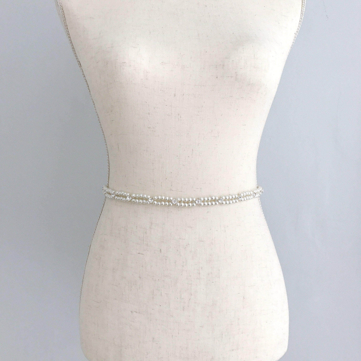 Wedding Belt Silver Pearl and crystal wedding belt - 'Rylee'