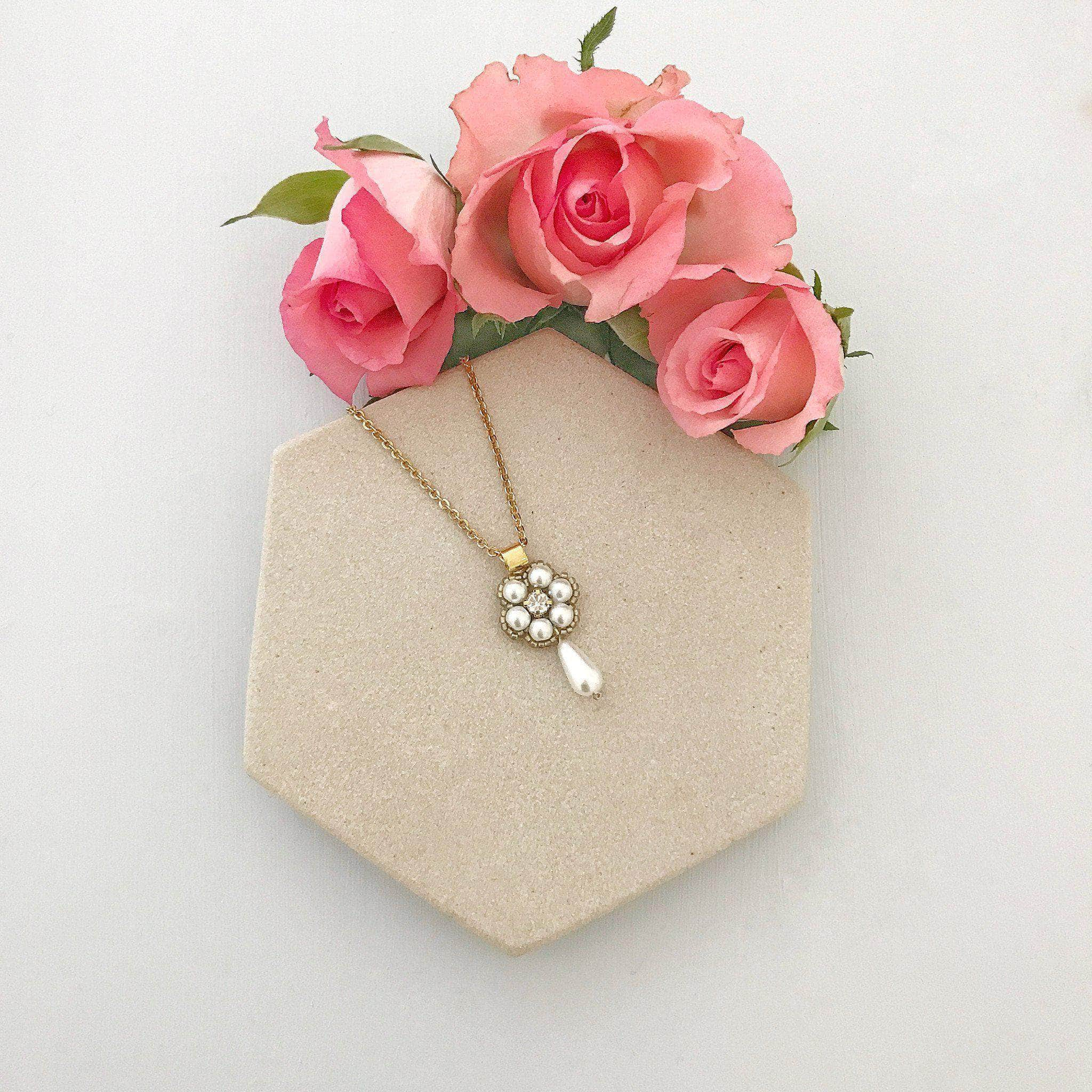 gold wedding necklace