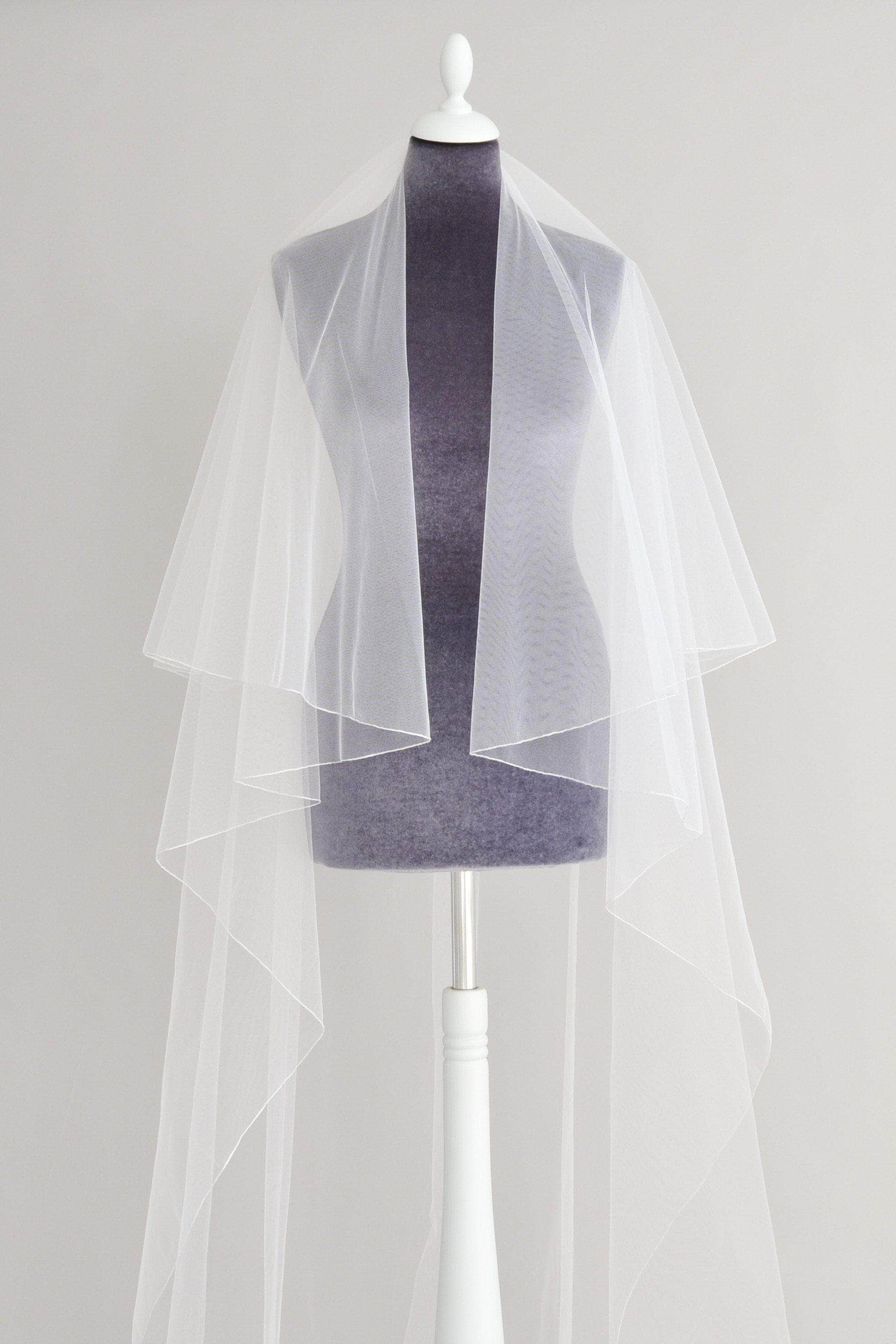 Wedding Veil Pencil edge two tier wedding veil - 'Ariel'