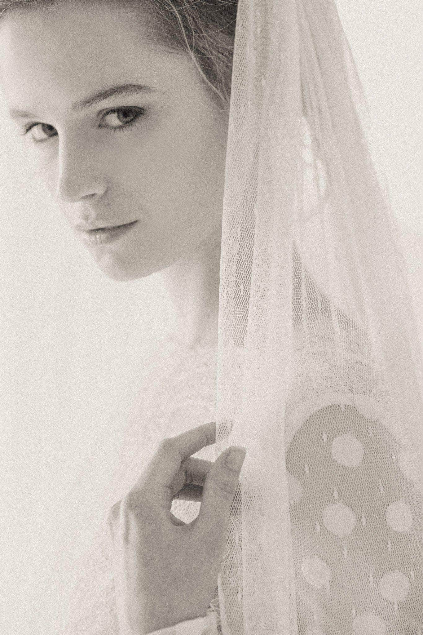 Polka dot wedding veil