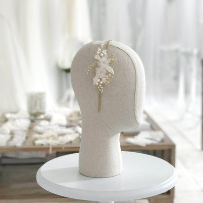flower and leaf wedding head band
