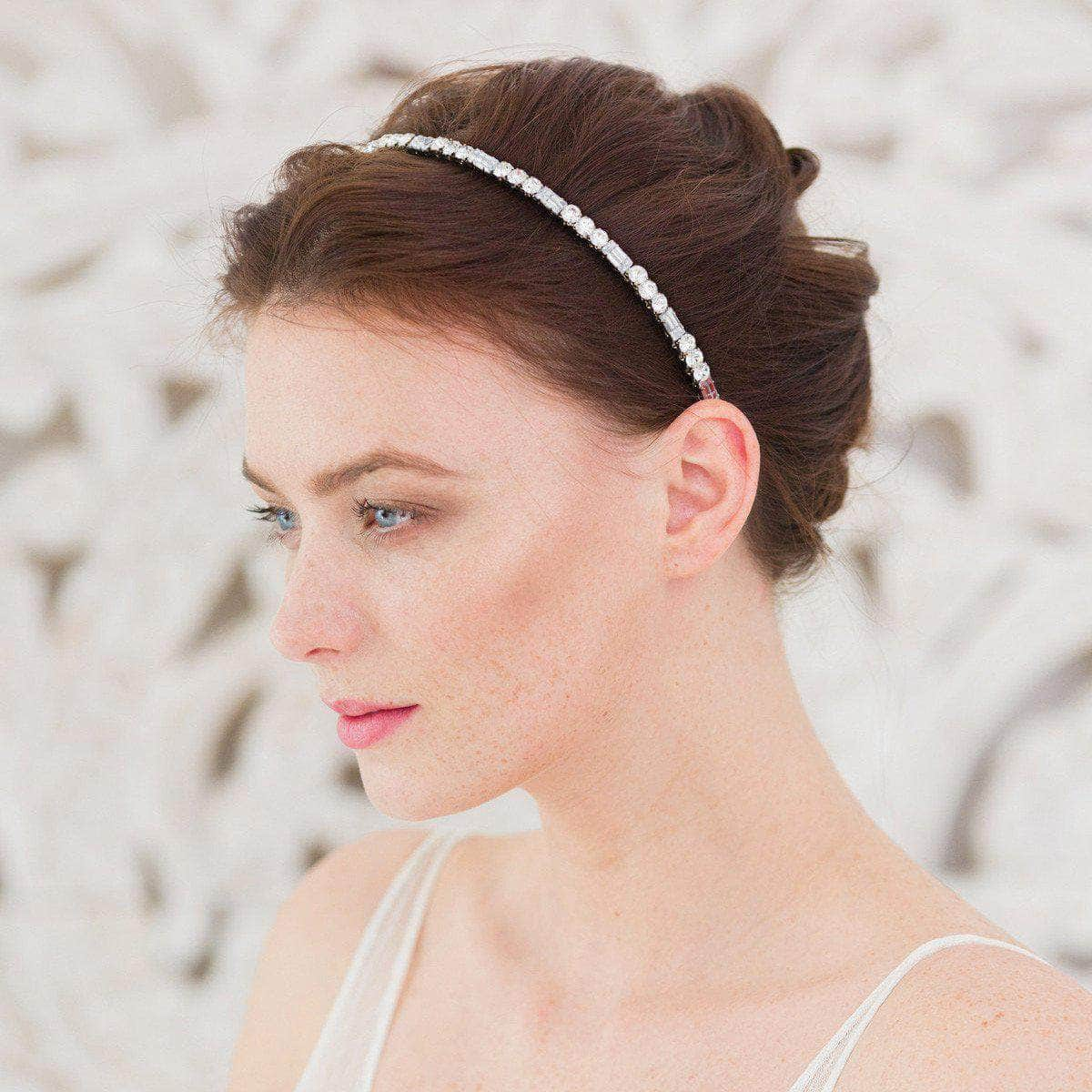 crystal wedding head band