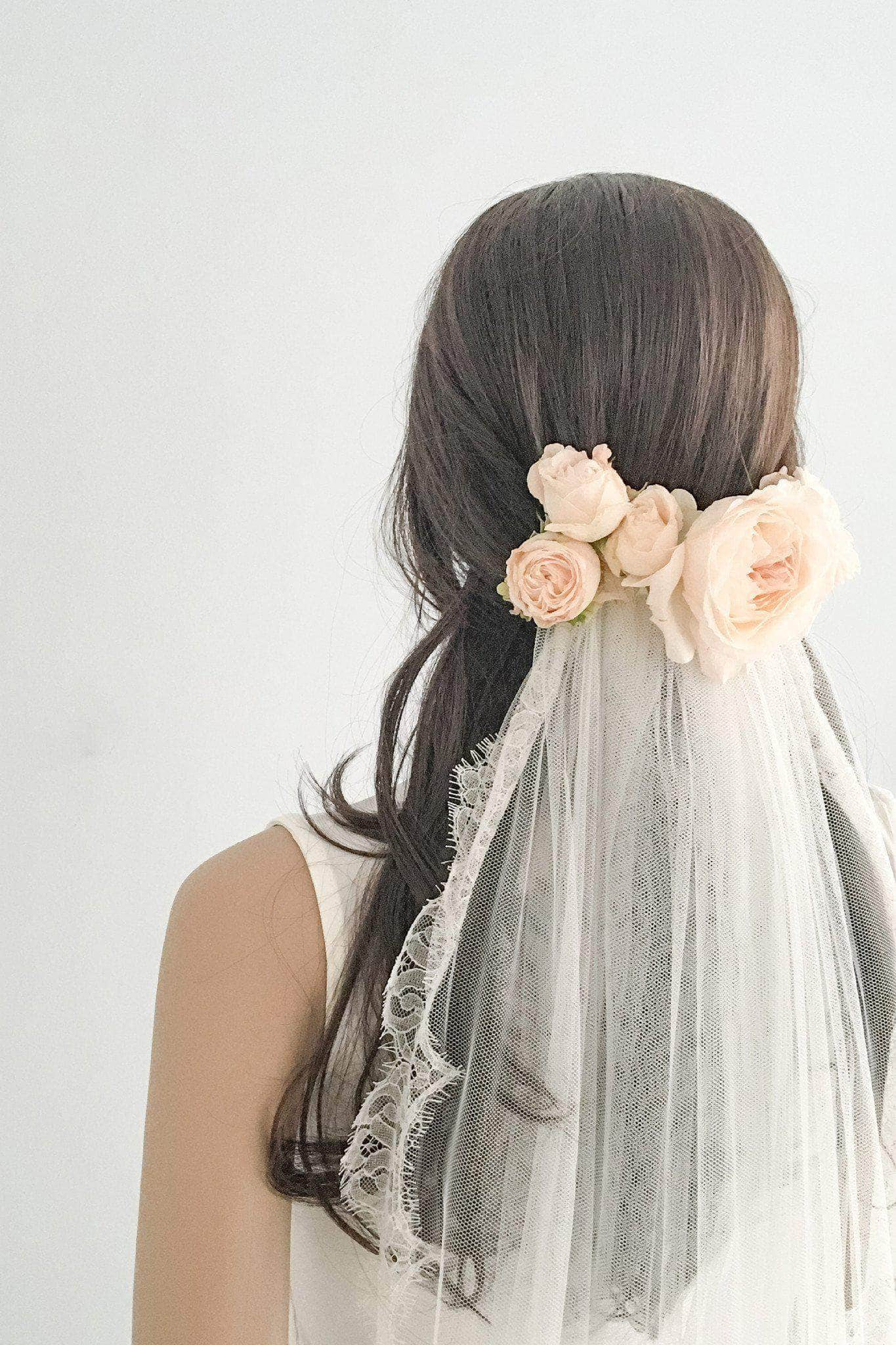 eyelash lace silk style wedding veil