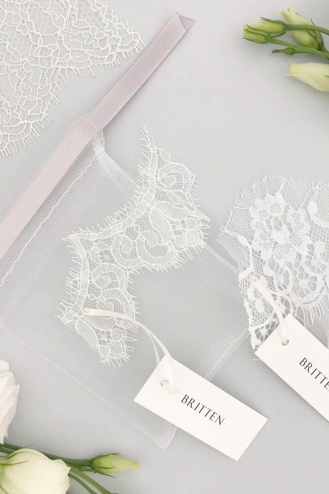 lace samples for silk veils