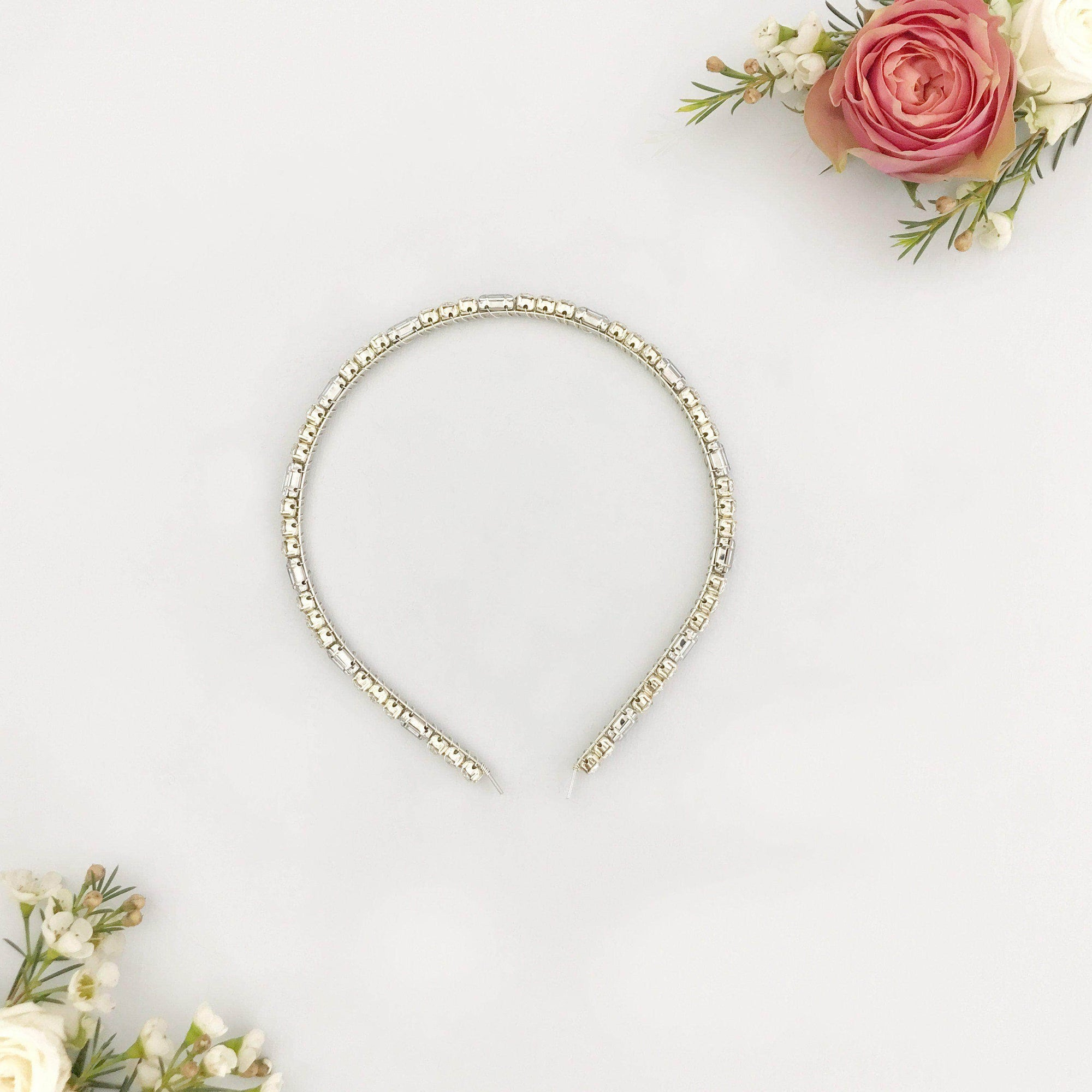 Wedding Headband Silver Deco wedding head band - 'Ruby'