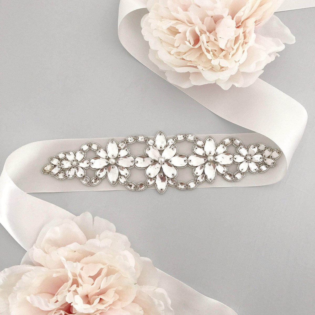 Wedding Belt Silver Statement wedding belt - 'Piper'