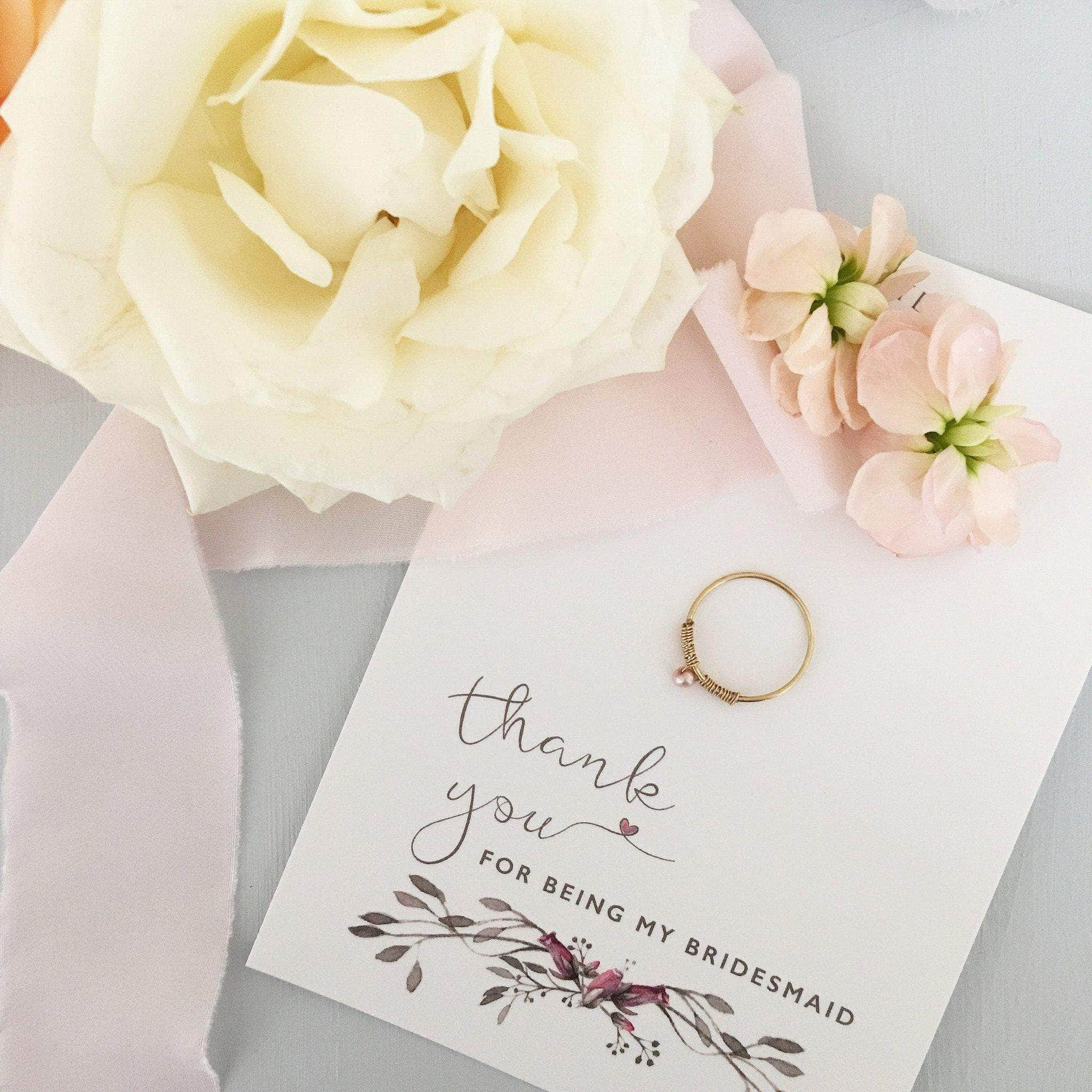 Bridesmaid 'thank you' gift ring - 'Adel' in gold