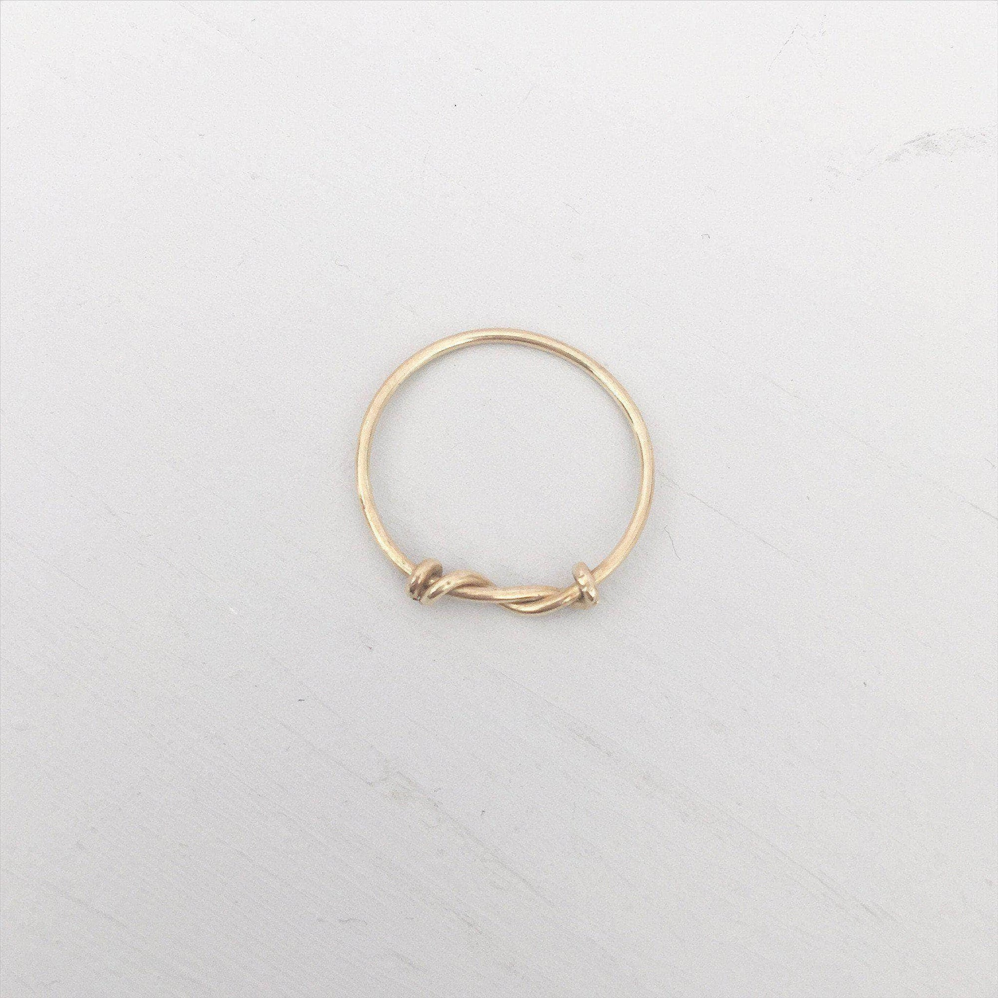 Bridesmaid gold ring