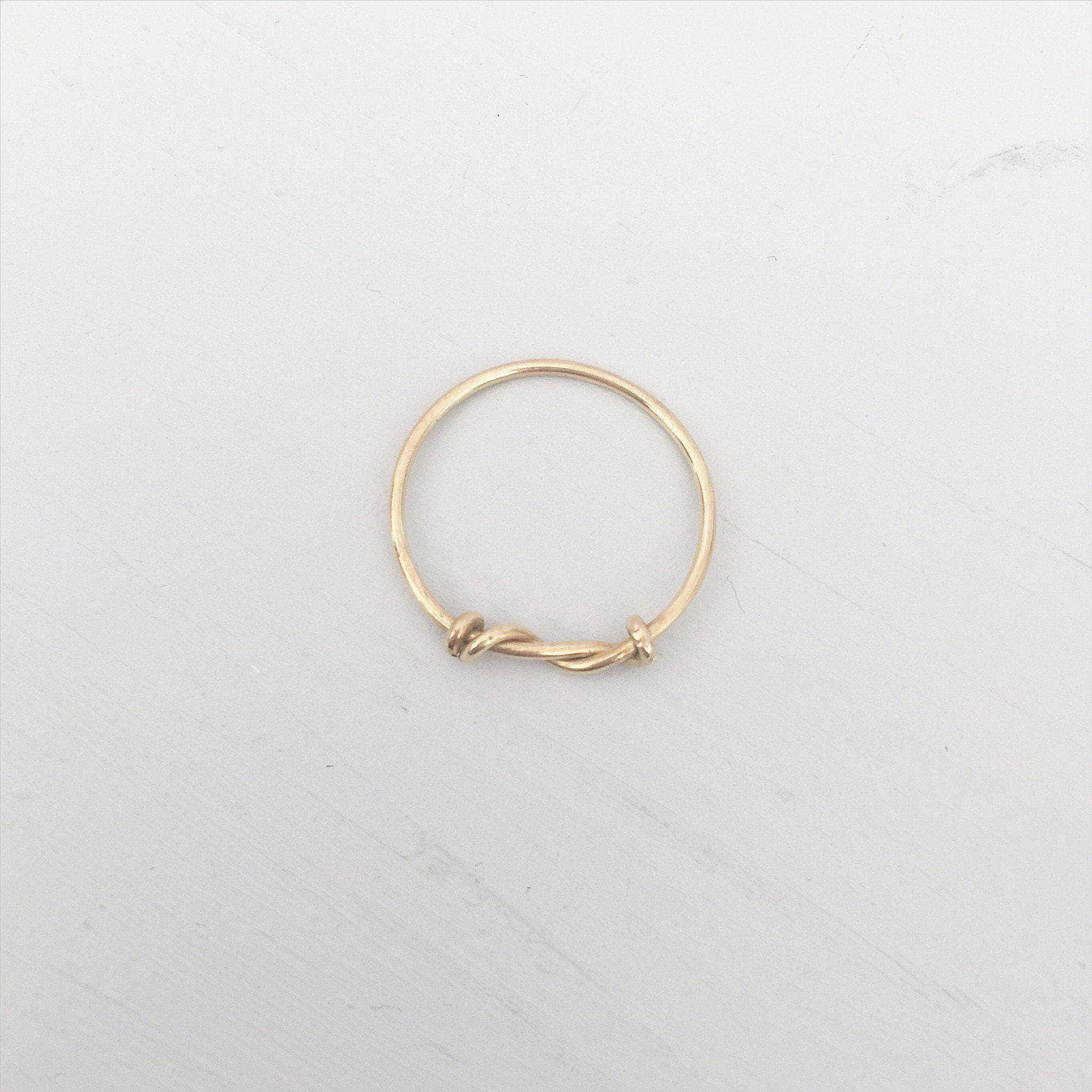 Bridesmaid 'thank you' gift ring - 'Afia' in gold