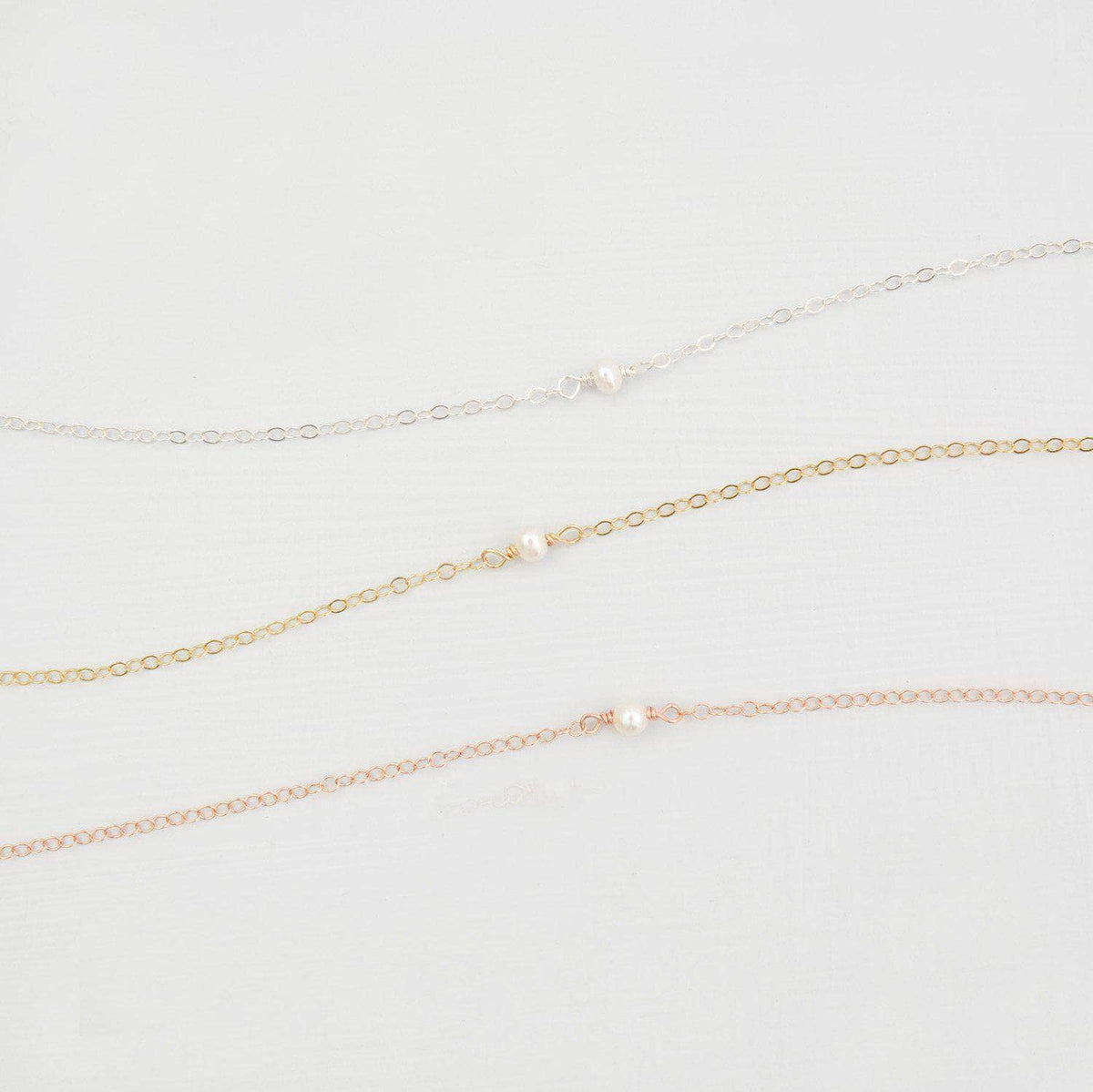Wedding Necklace Tiny freshwater pearl necklace - 'Rei'